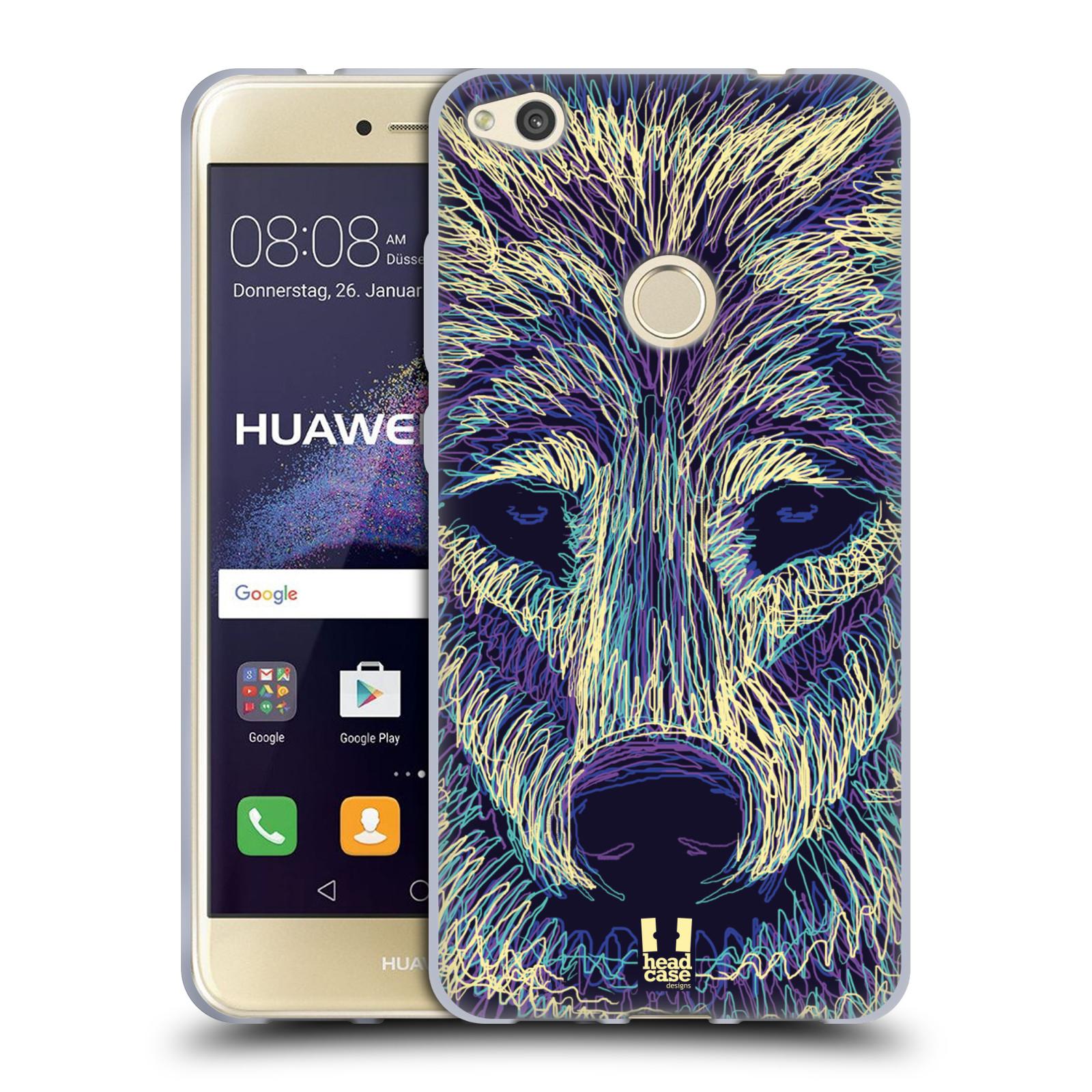 Silikonové pouzdro na mobil Honor 8 Lite - Head Case - SCRIBBLE VLK (Silikonový kryt či obal na mobilní telefon Honor 8 Lite s motivem SCRIBBLE VLK)