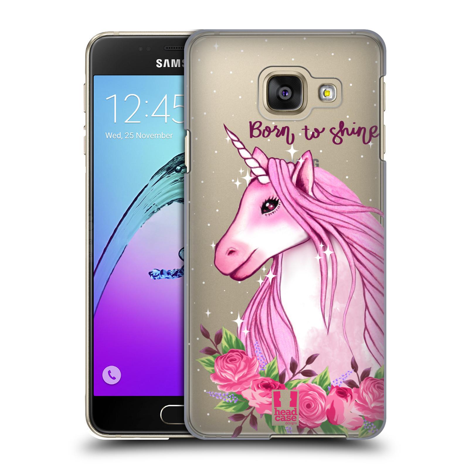 Plastové pouzdro na mobil Samsung Galaxy A3 (2016) - Head Case - Jednorožec - Born to shine