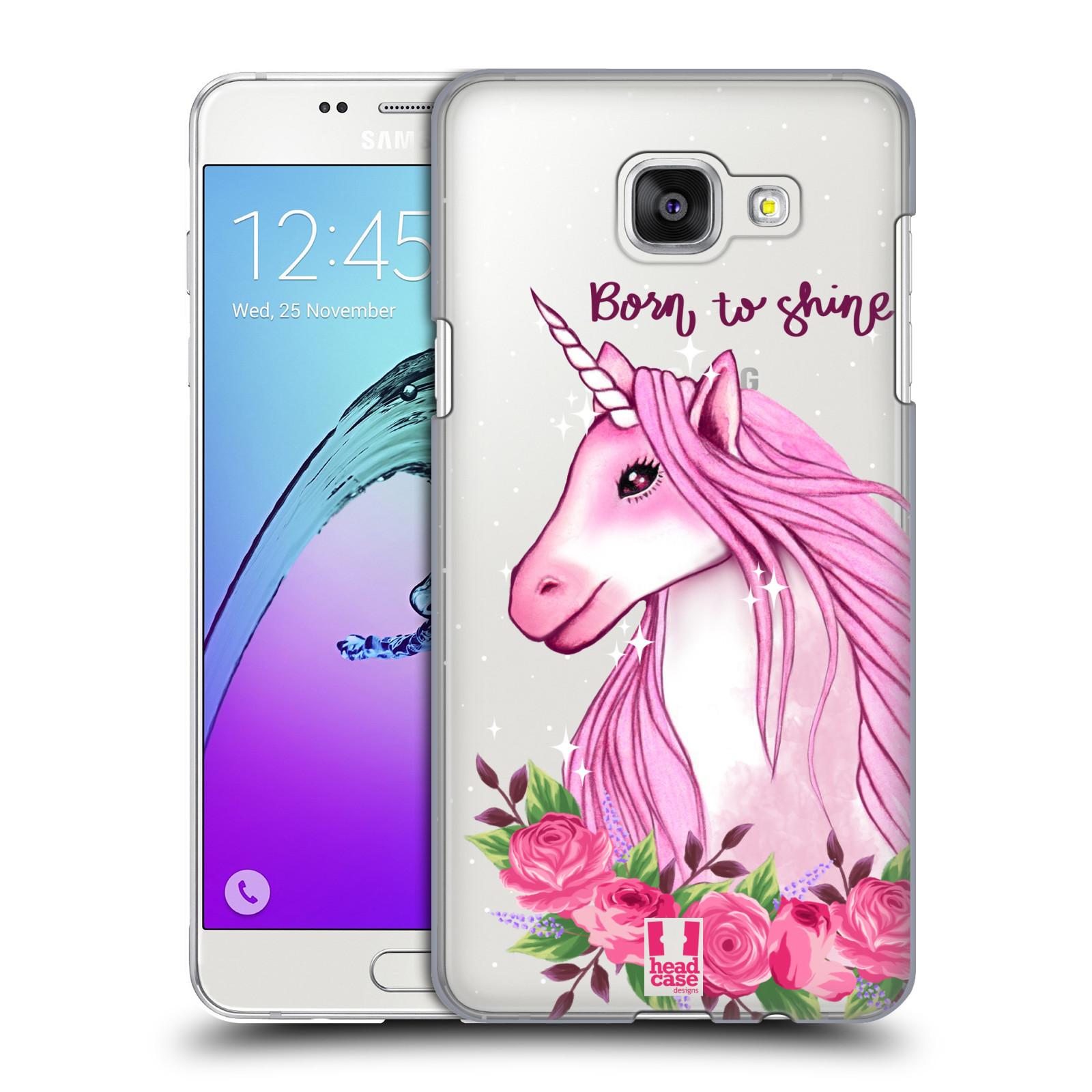 Plastové pouzdro na mobil Samsung Galaxy A5 (2016) - Head Case - Jednorožec - Born to shine