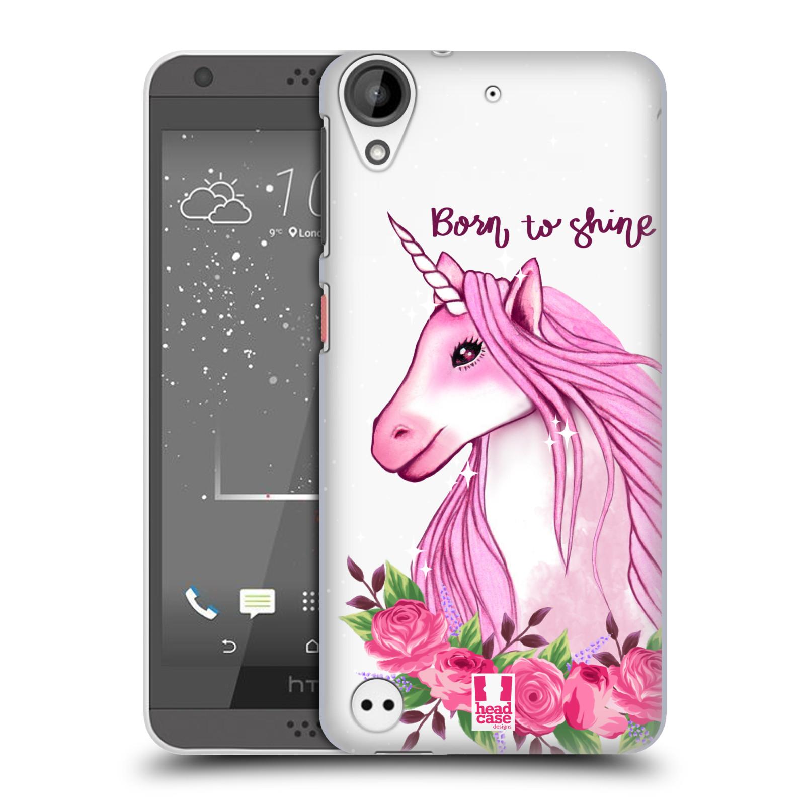 Plastové pouzdro na mobil HTC Desire 530 - Head Case - Jednorožec - Born to shine