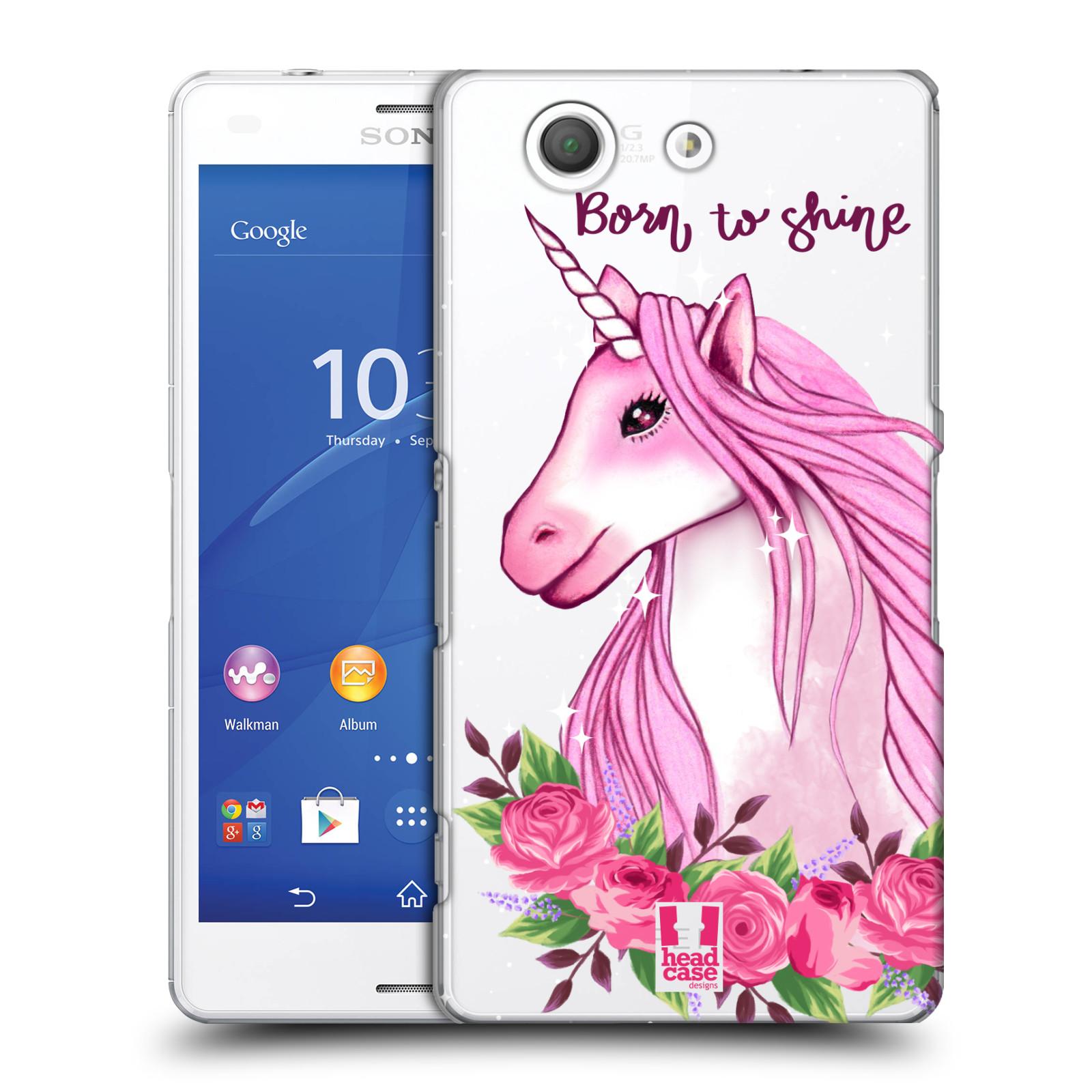 Plastové pouzdro na mobil Sony Xperia Z3 Compact D5803 - Head Case - Jednorožec - Born to shine