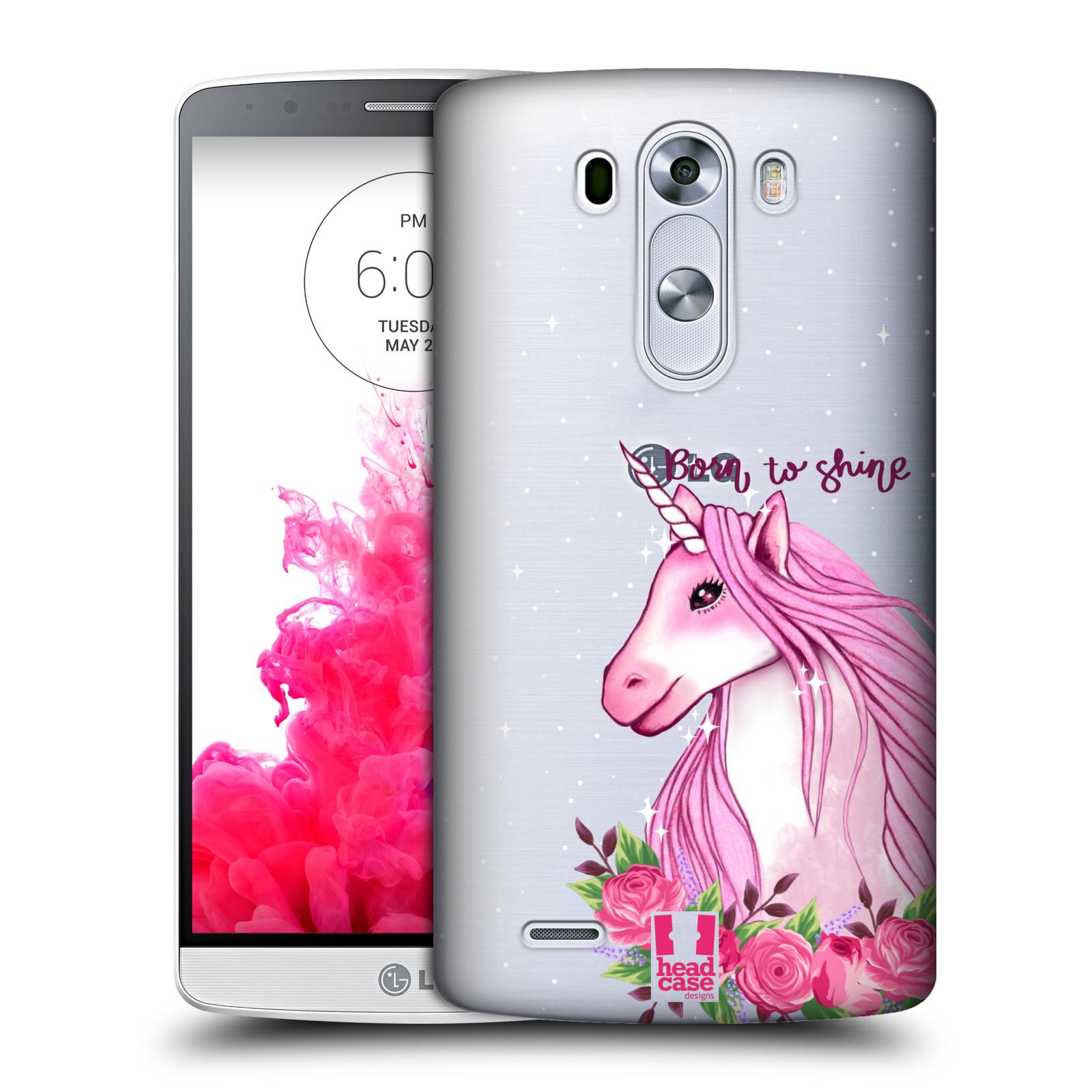 Plastové pouzdro na mobil LG G3 - Head Case - Jednorožec - Born to shine