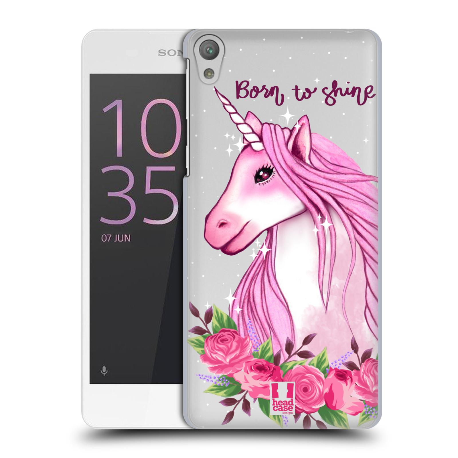 Plastové pouzdro na mobil Sony Xperia E5 - Head Case - Jednorožec - Born to shine
