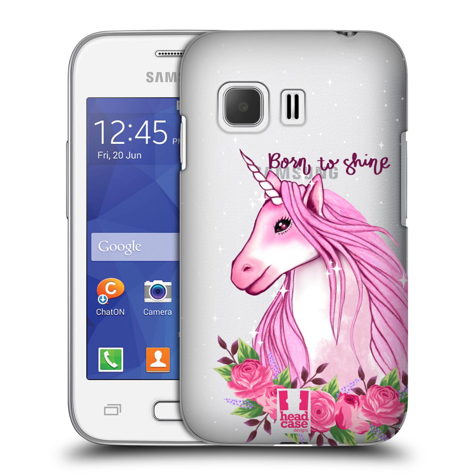 Plastové pouzdro na mobil Samsung Galaxy Young 2 - Head Case - Jednorožec - Born to shine