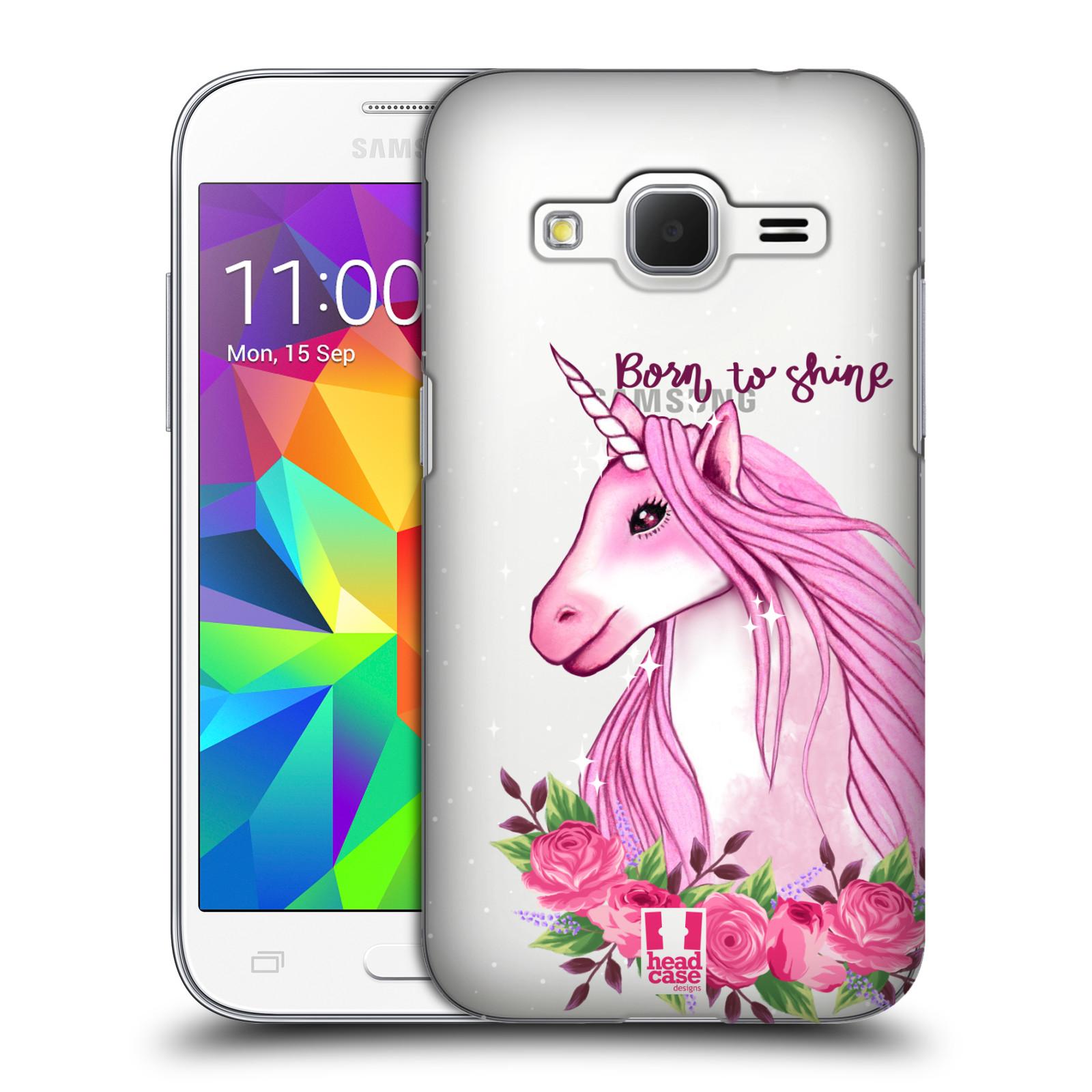 Plastové pouzdro na mobil Samsung Galaxy Core Prime LTE - Head Case - Jednorožec - Born to shine