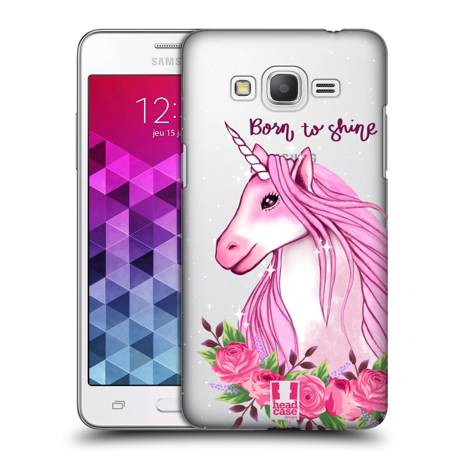 Plastové pouzdro na mobil Samsung Galaxy Grand Prime VE - Head Case - Jednorožec - Born to shine