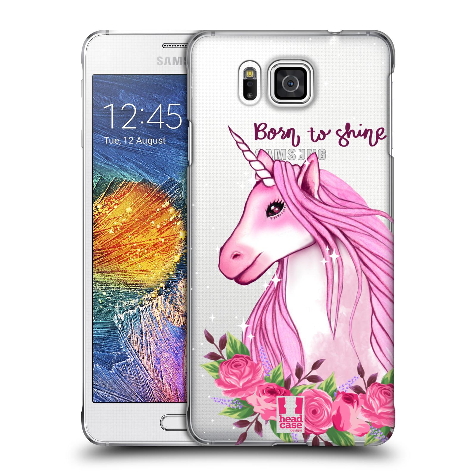 Plastové pouzdro na mobil Samsung Galaxy Alpha - Head Case - Jednorožec - Born to shine
