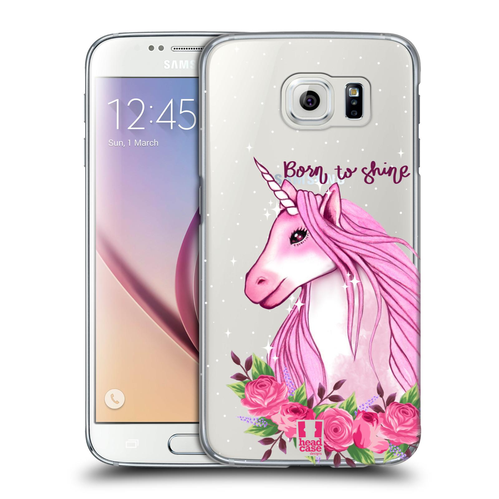 Plastové pouzdro na mobil Samsung Galaxy S6 - Head Case - Jednorožec - Born to shine