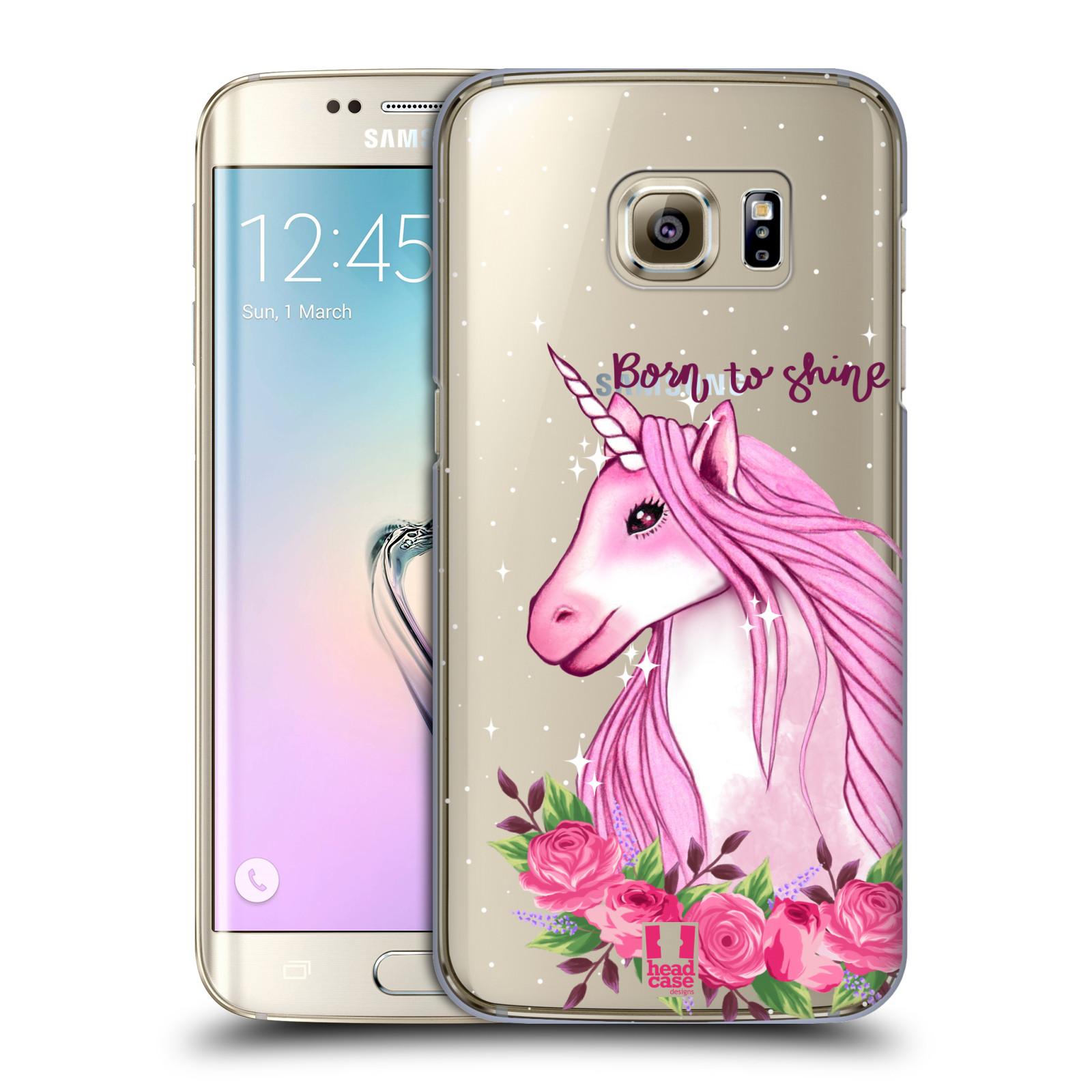 Plastové pouzdro na mobil Samsung Galaxy S7 Edge - Head Case - Jednorožec - Born to shine