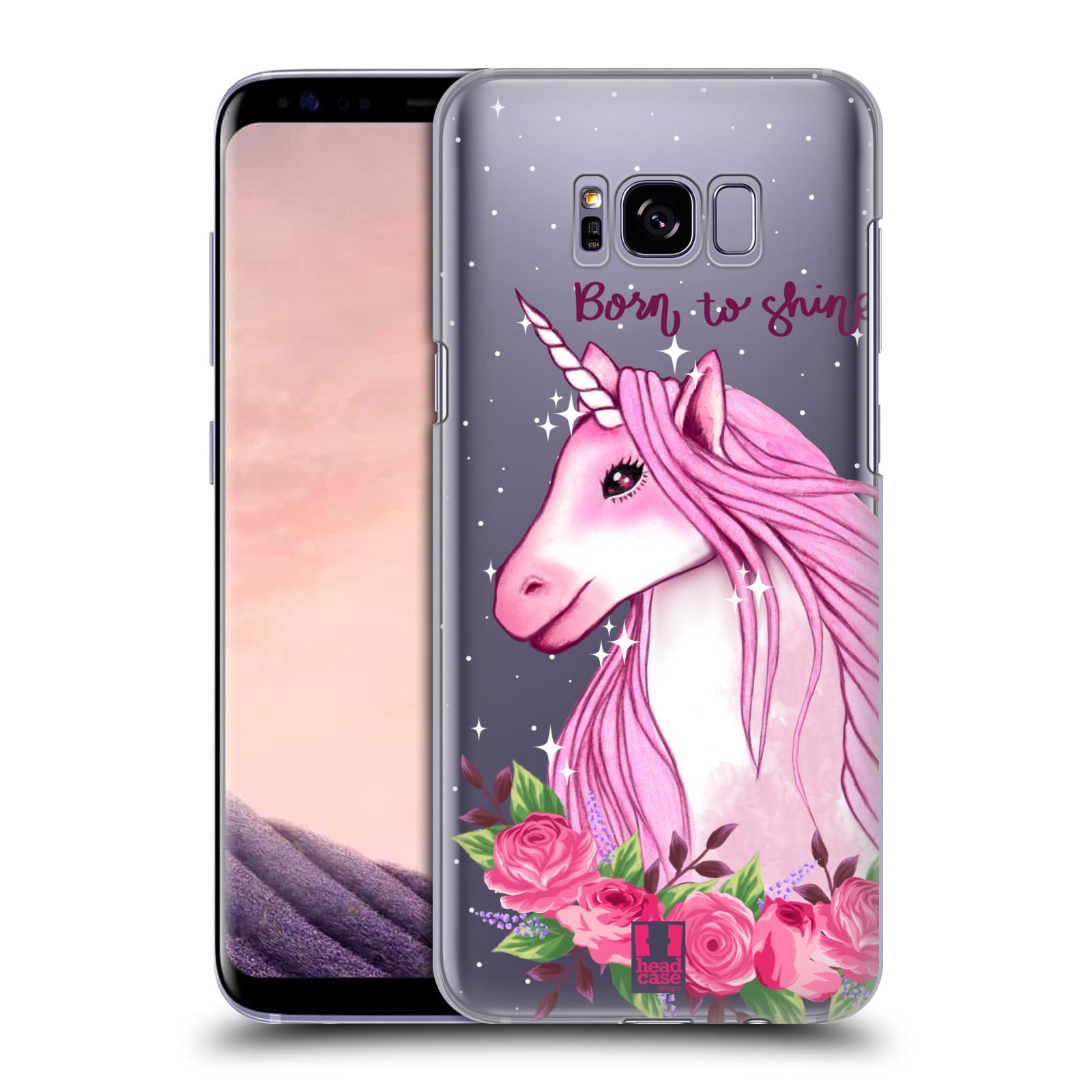 Plastové pouzdro na mobil Samsung Galaxy S8+ (Plus) - Head Case - Jednorožec - Born to shine