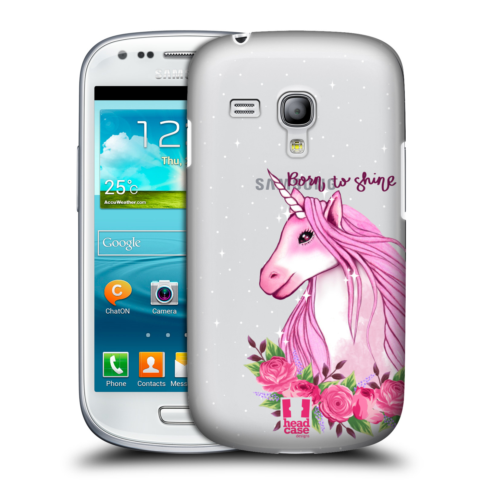 Silikonové pouzdro na mobil Samsung Galaxy S III Mini VE - Head Case - Jednorožec - Born to shine