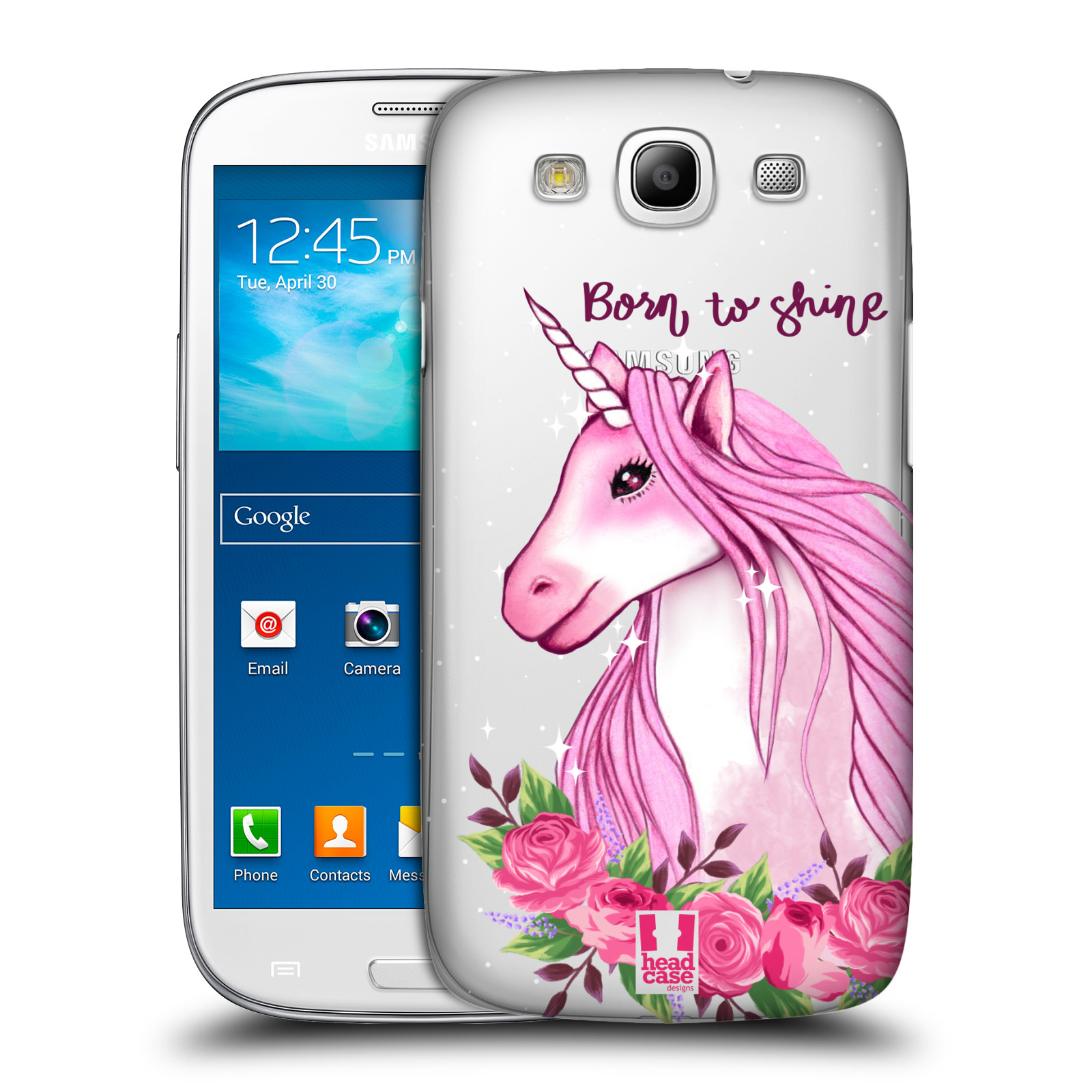 Plastové pouzdro na mobil Samsung Galaxy S III - Head Case - Jednorožec - Born to shine