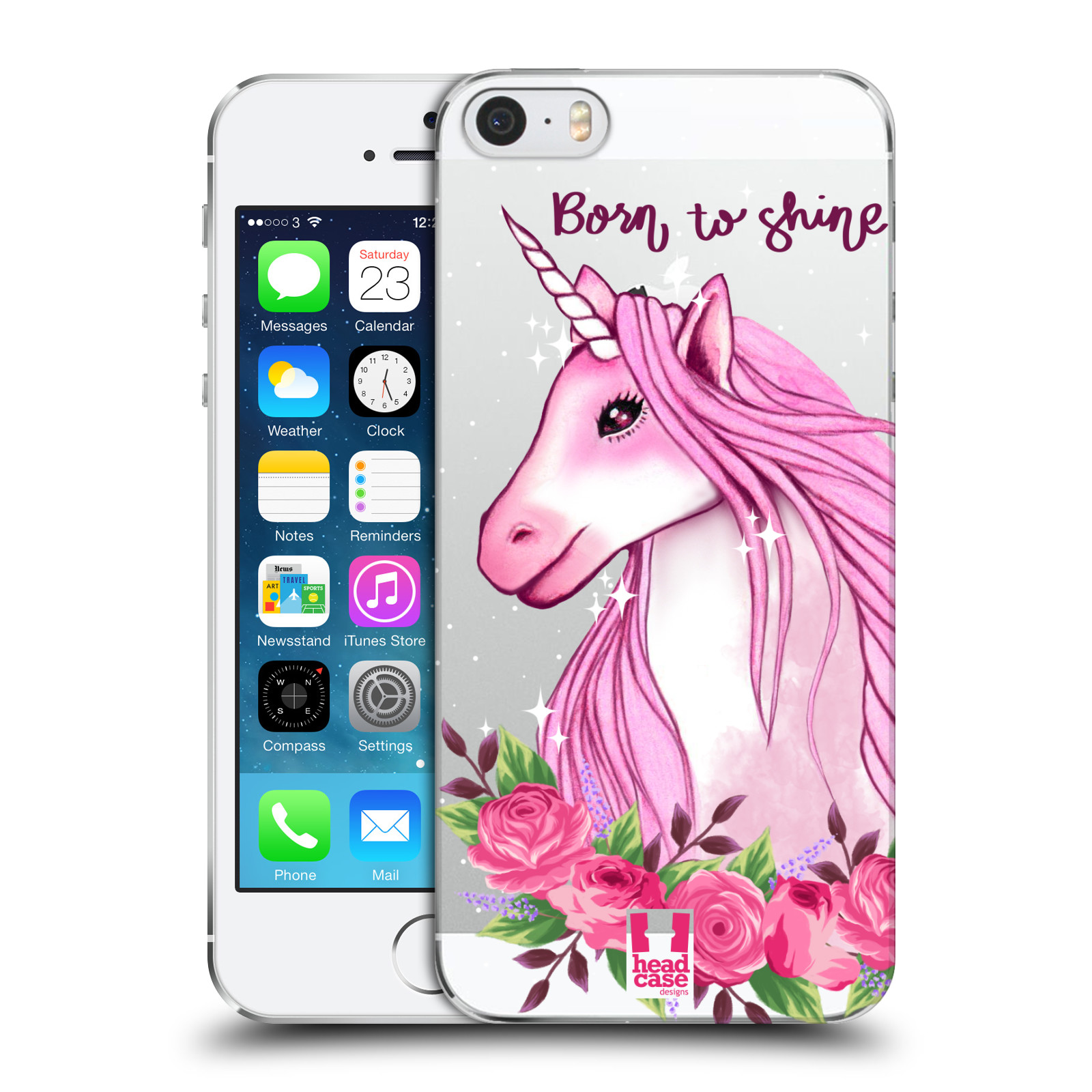 Plastové pouzdro na mobil Apple iPhone SE, 5 a 5S - Head Case - Jednorožec - Born to shine