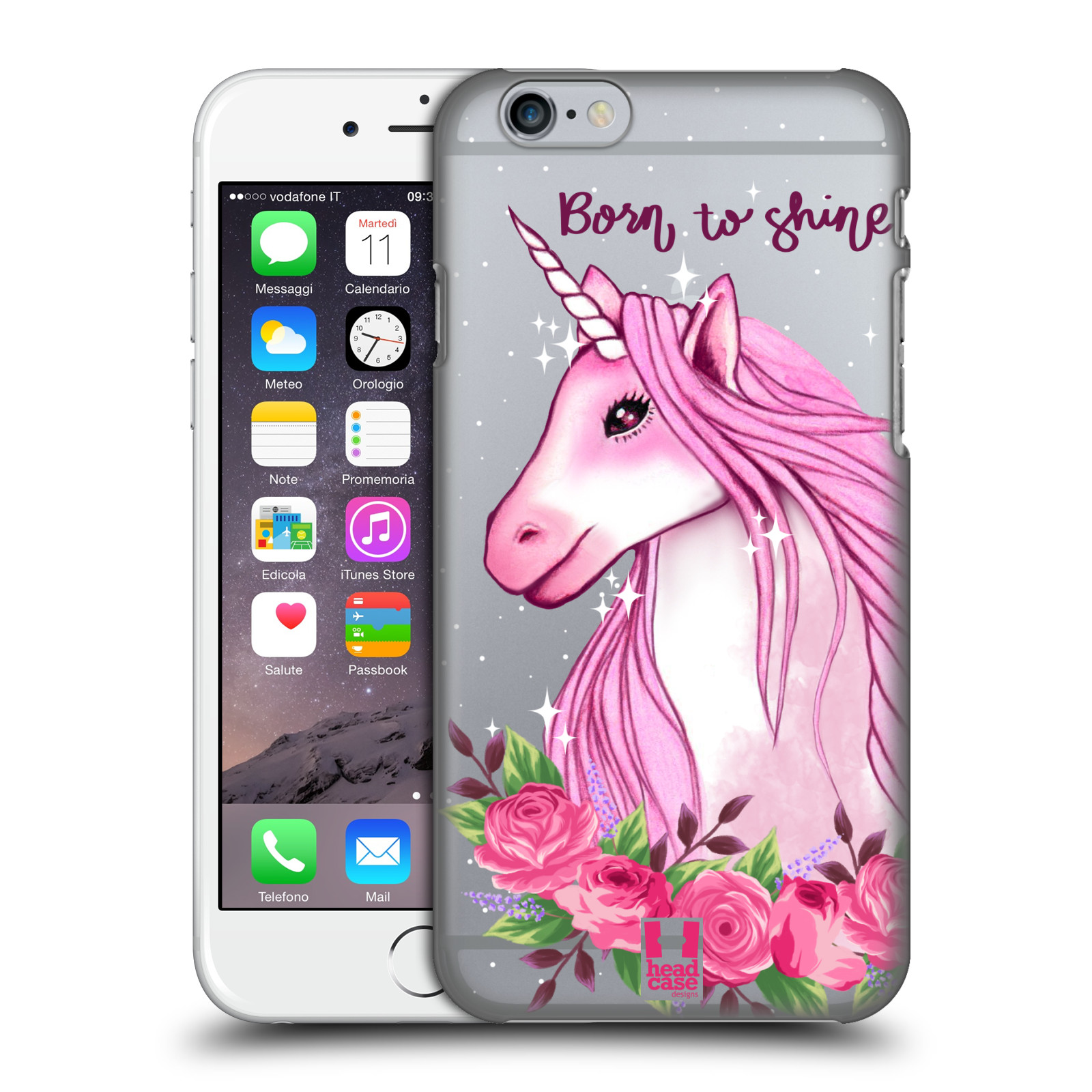 Plastové pouzdro na mobil Apple iPhone 6 - Head Case - Jednorožec - Born to shine