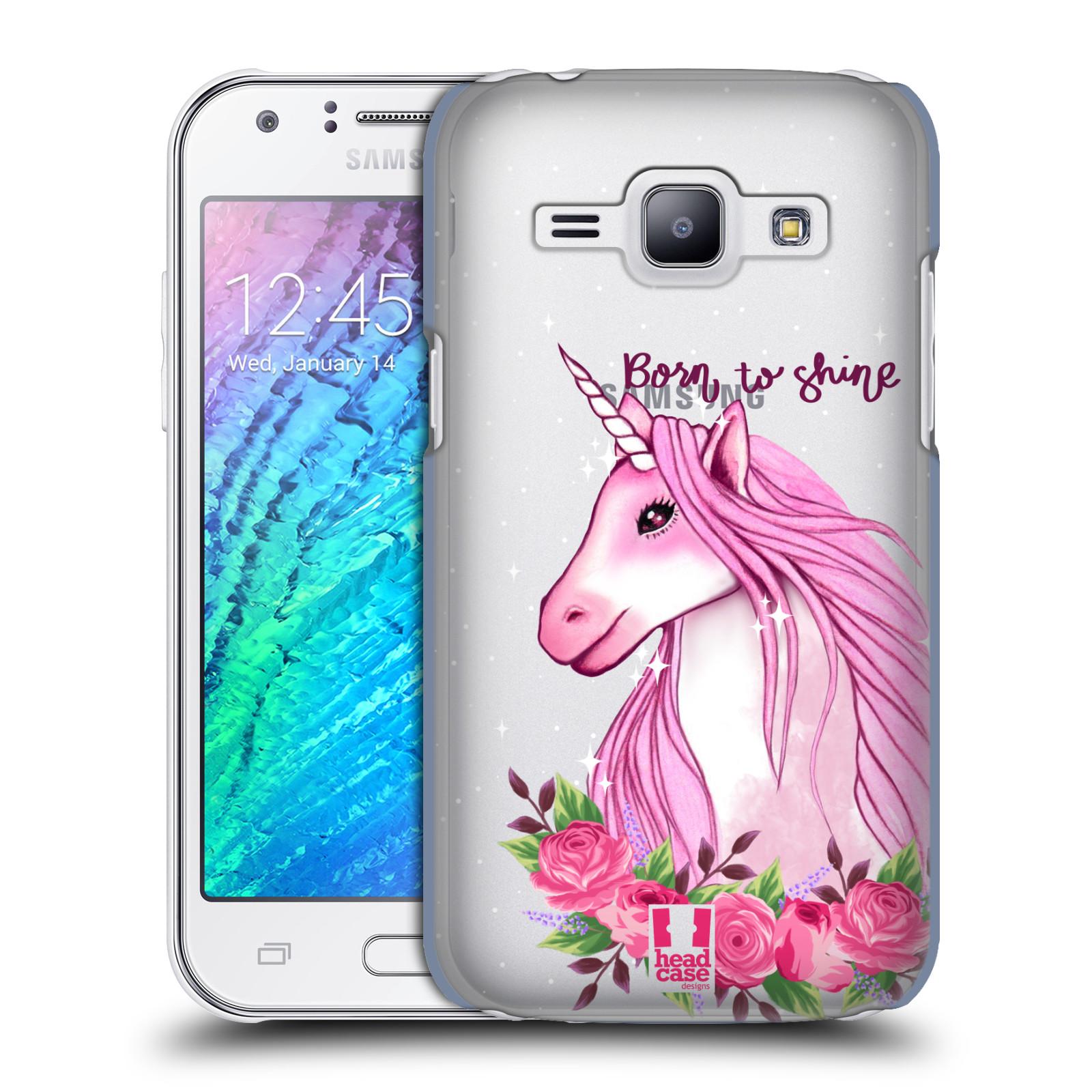 Plastové pouzdro na mobil Samsung Galaxy J1 - Head Case - Jednorožec - Born to shine