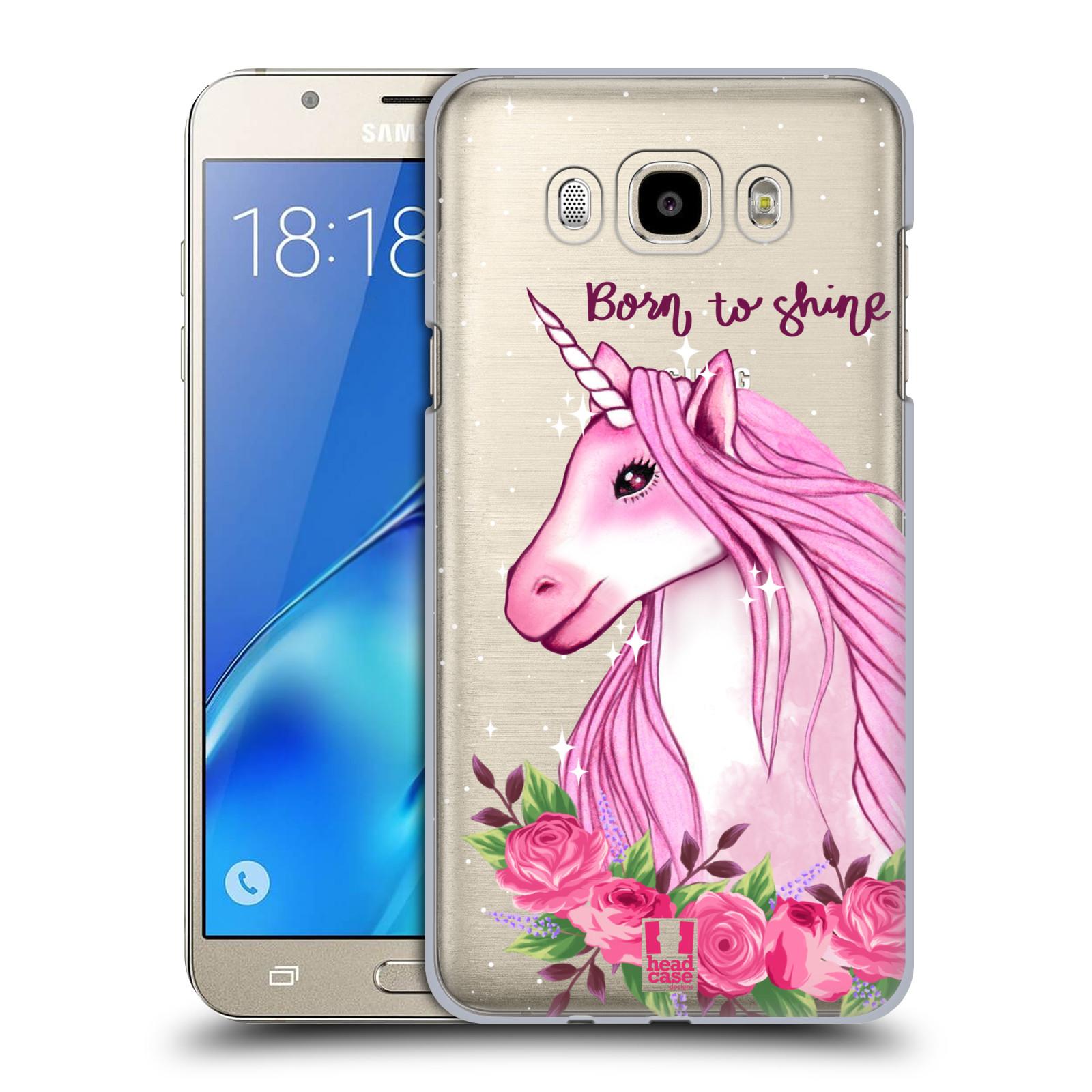 Plastové pouzdro na mobil Samsung Galaxy J7 (2016) - Head Case - Jednorožec - Born to shine