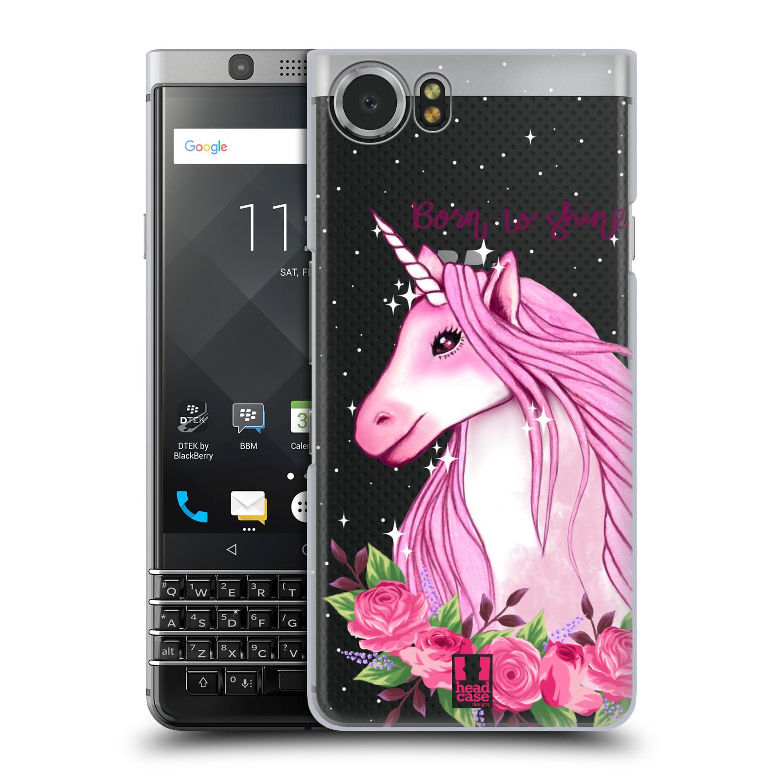 Plastové pouzdro na mobil BlackBerry KEYone - Head Case - Jednorožec - Born to shine