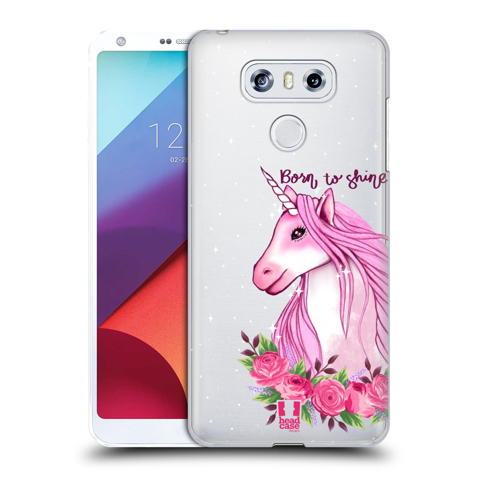 Plastové pouzdro na mobil LG G6 - Head Case - Jednorožec - Born to shine