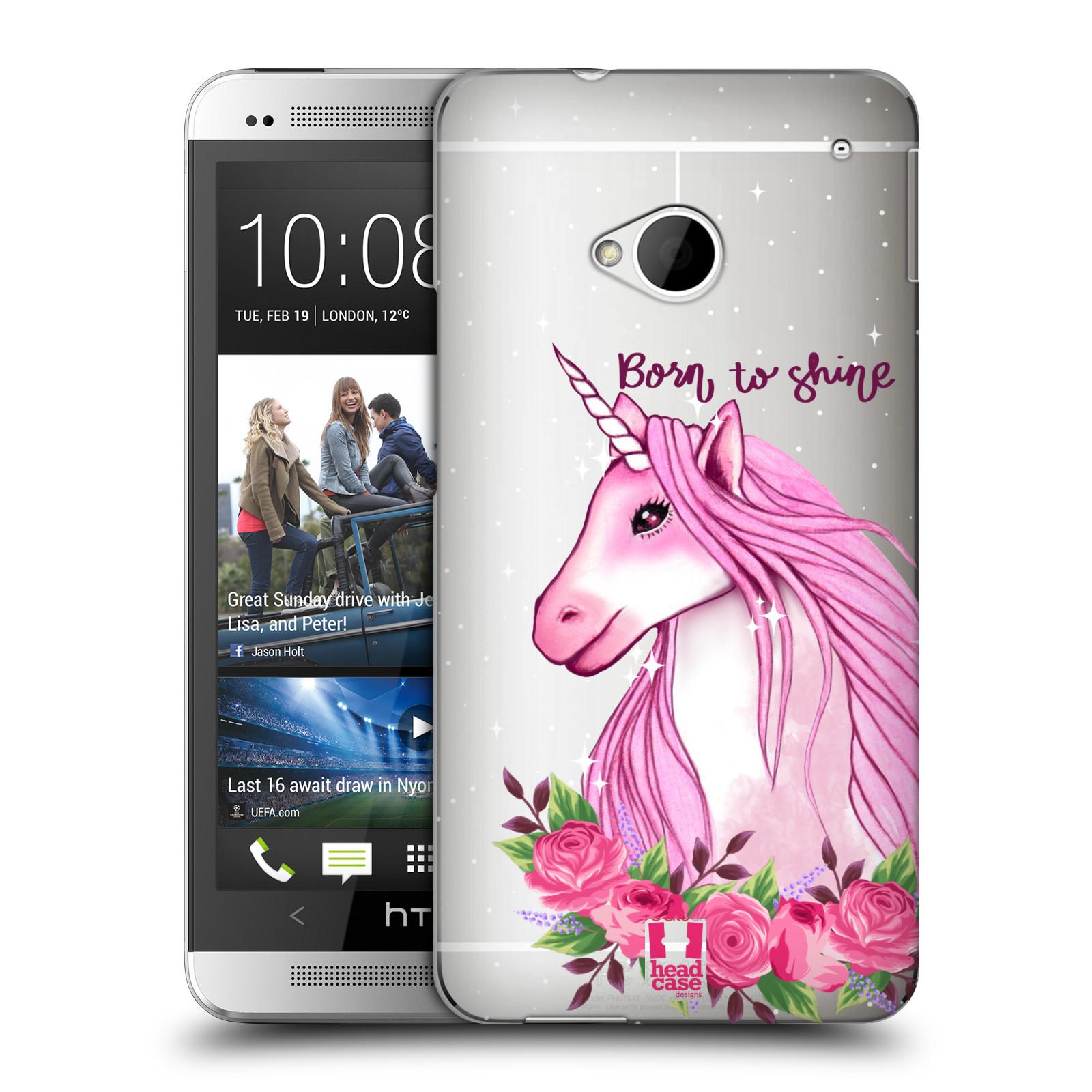 Plastové pouzdro na mobil HTC ONE M7 - Head Case - Jednorožec - Born to shine