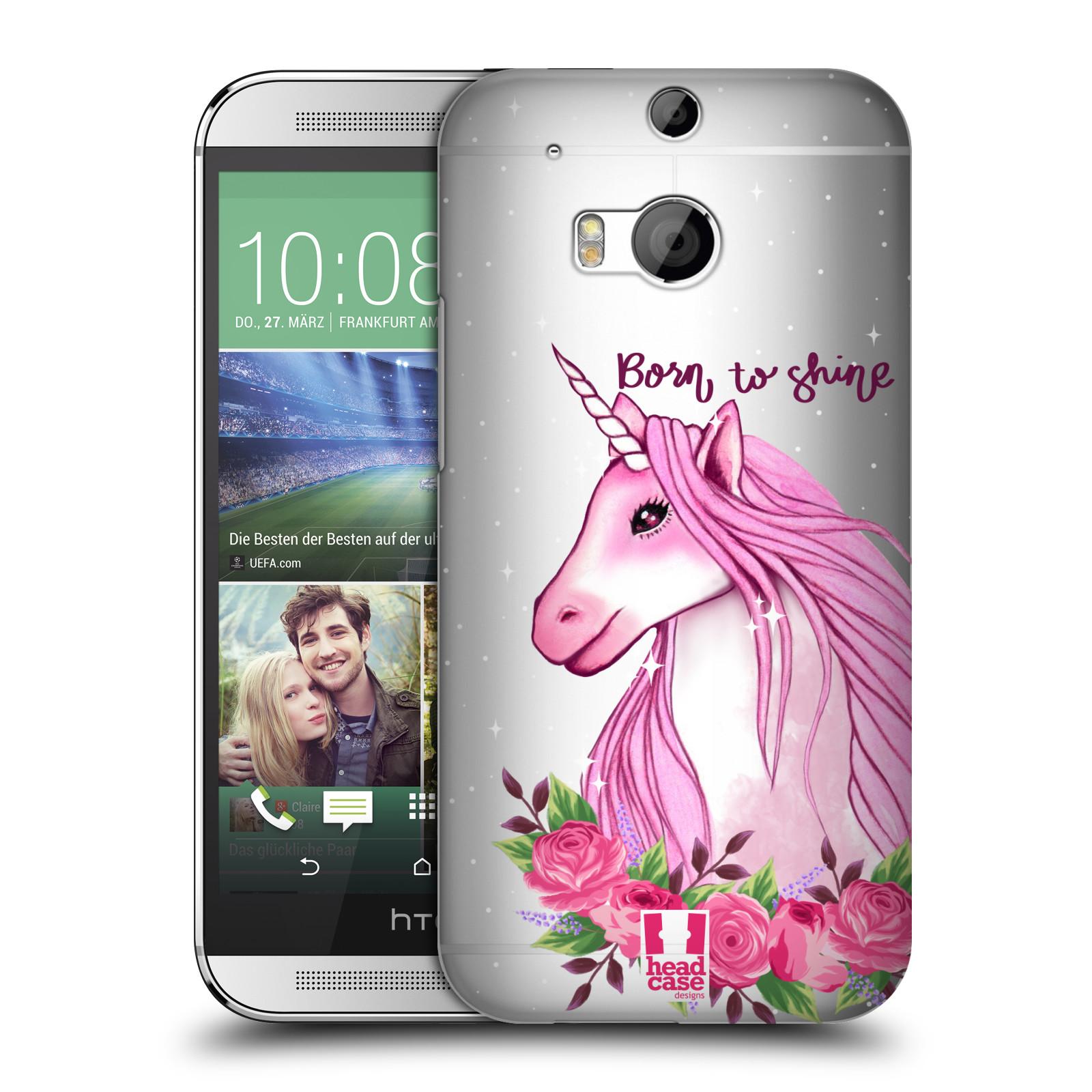 Plastové pouzdro na mobil HTC ONE M8 - Head Case - Jednorožec - Born to shine