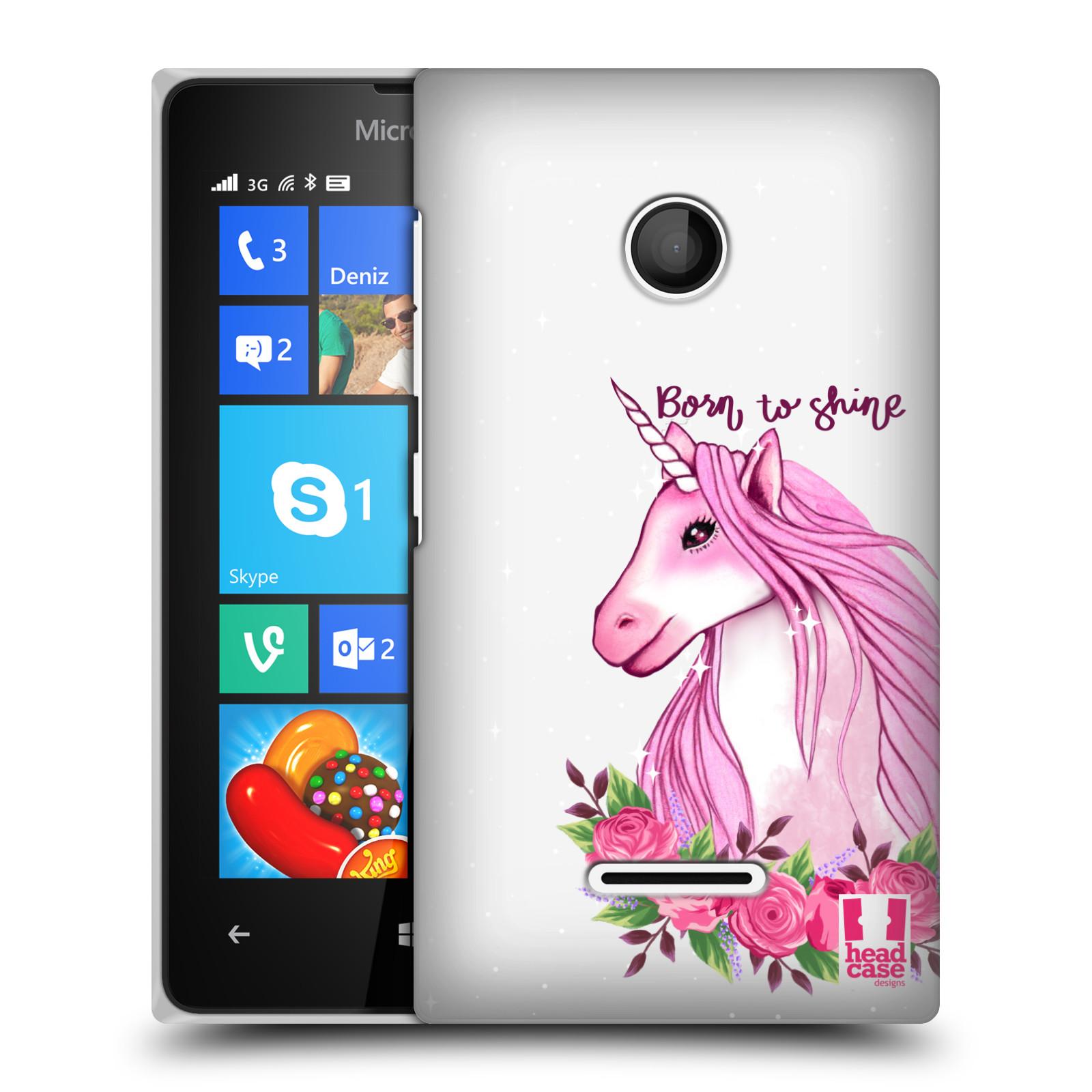 Plastové pouzdro na mobil Microsoft Lumia 435 - Head Case - Jednorožec - Born to shine