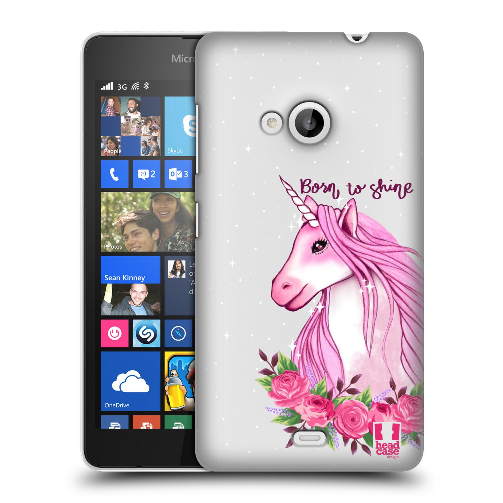 Plastové pouzdro na mobil Microsoft Lumia 535 - Head Case - Jednorožec - Born to shine