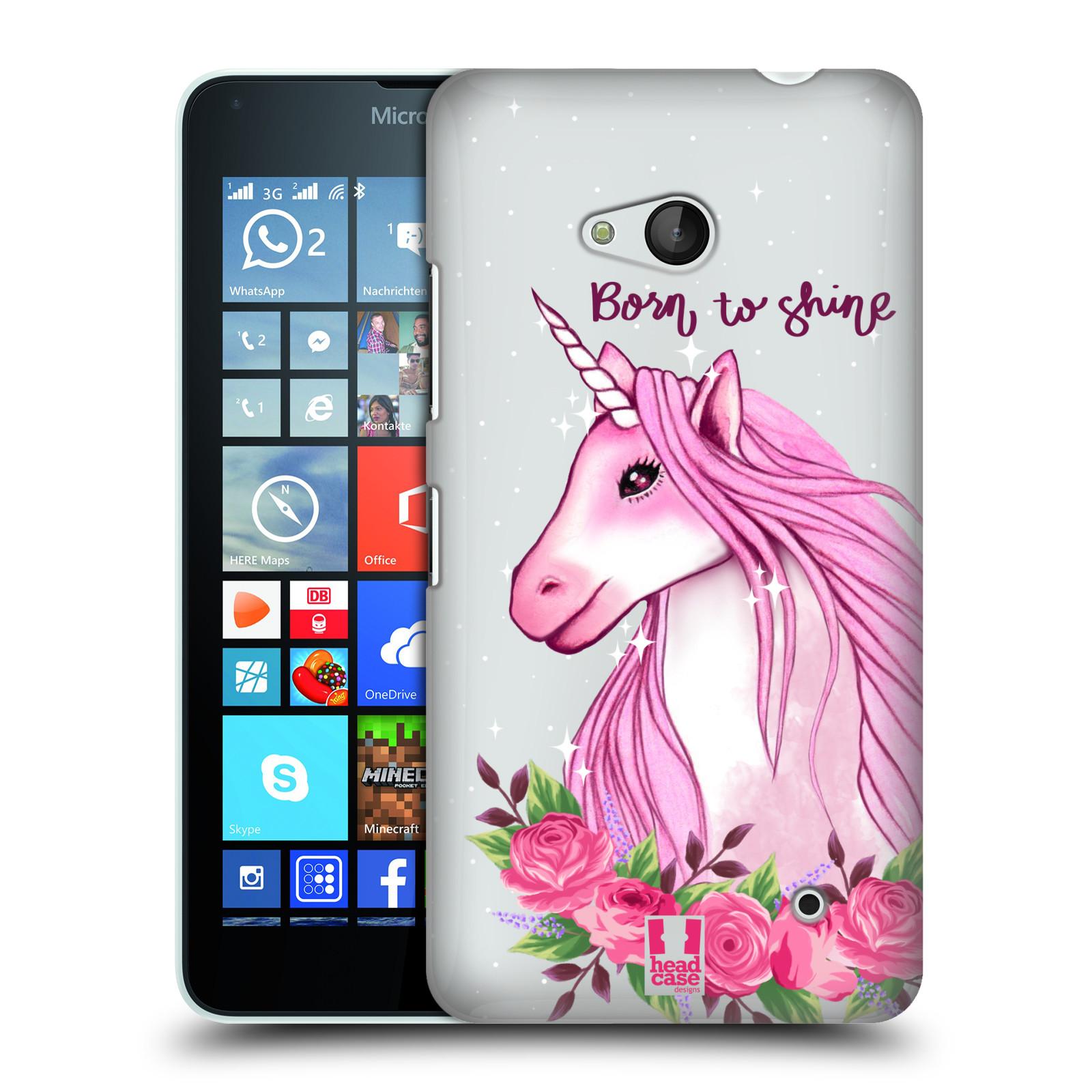 Plastové pouzdro na mobil Microsoft Lumia 640 - Head Case - Jednorožec - Born to shine