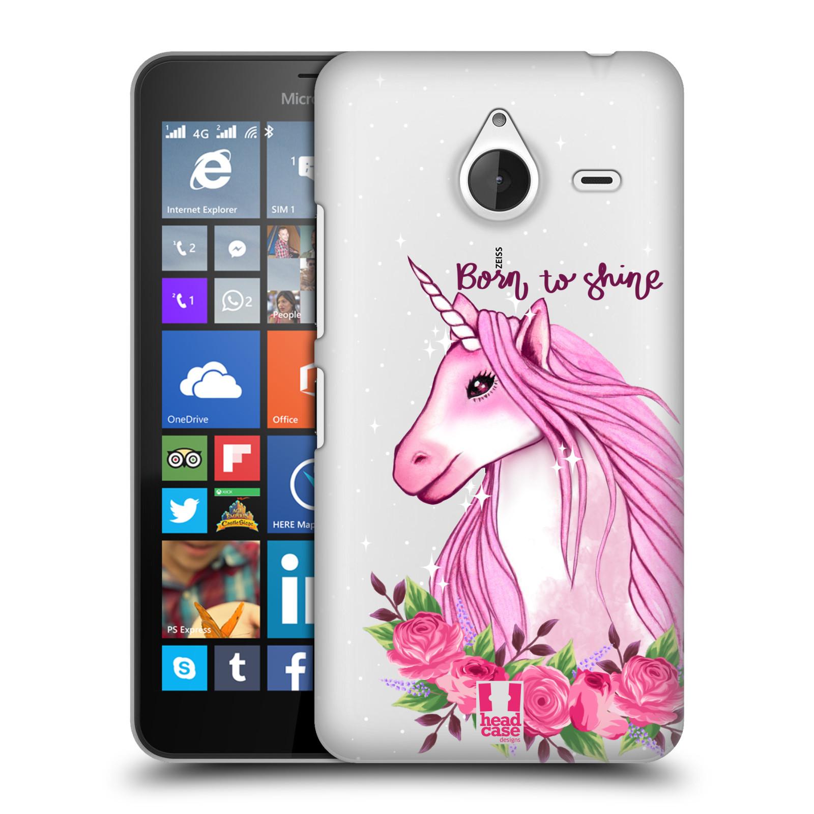 Plastové pouzdro na mobil Microsoft Lumia 640 XL - Head Case - Jednorožec - Born to shine