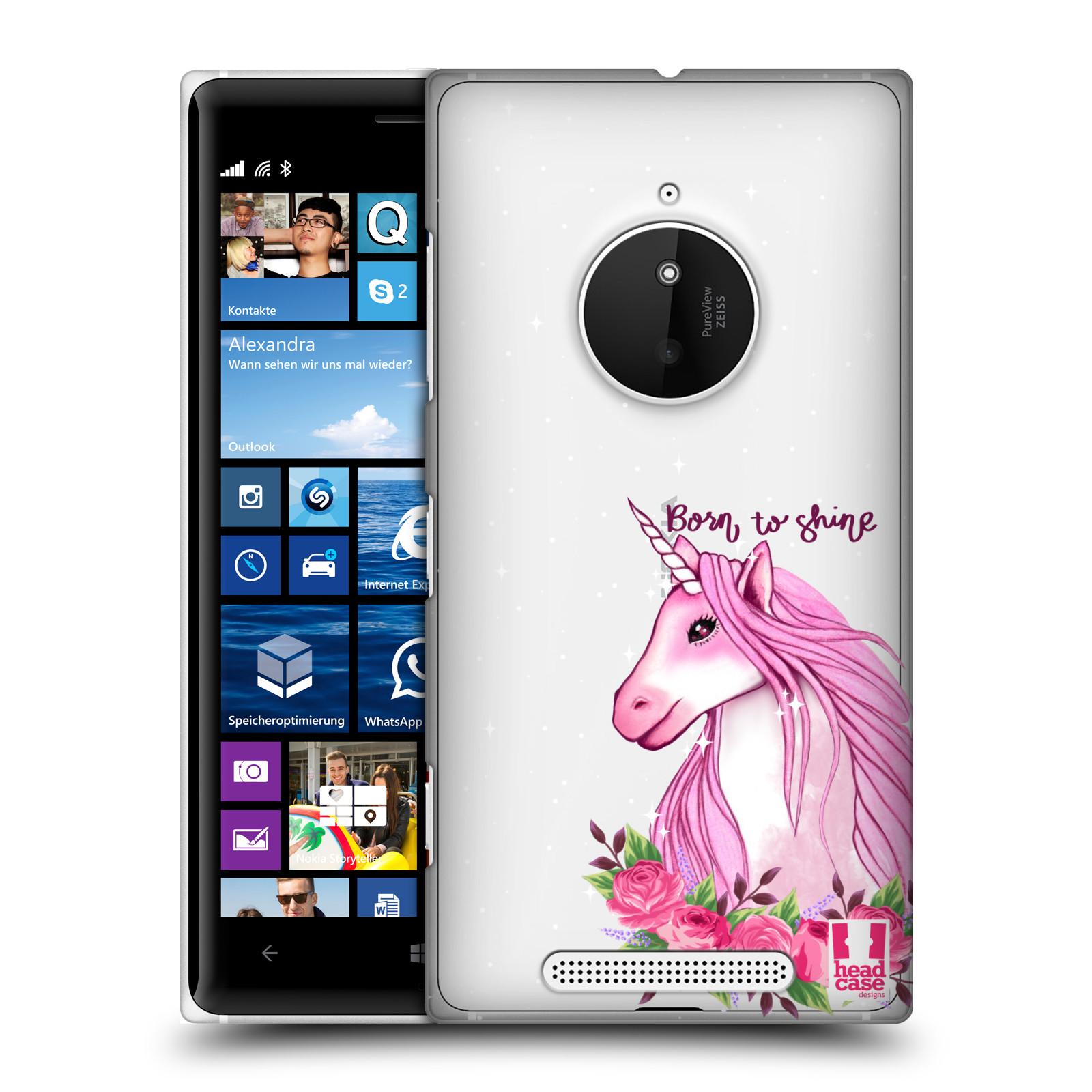 Plastové pouzdro na mobil Nokia Lumia 830 - Head Case - Jednorožec - Born to shine