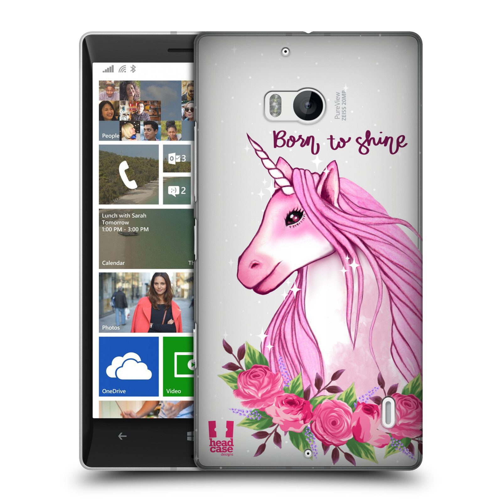 Plastové pouzdro na mobil Nokia Lumia 930 - Head Case - Jednorožec - Born to shine