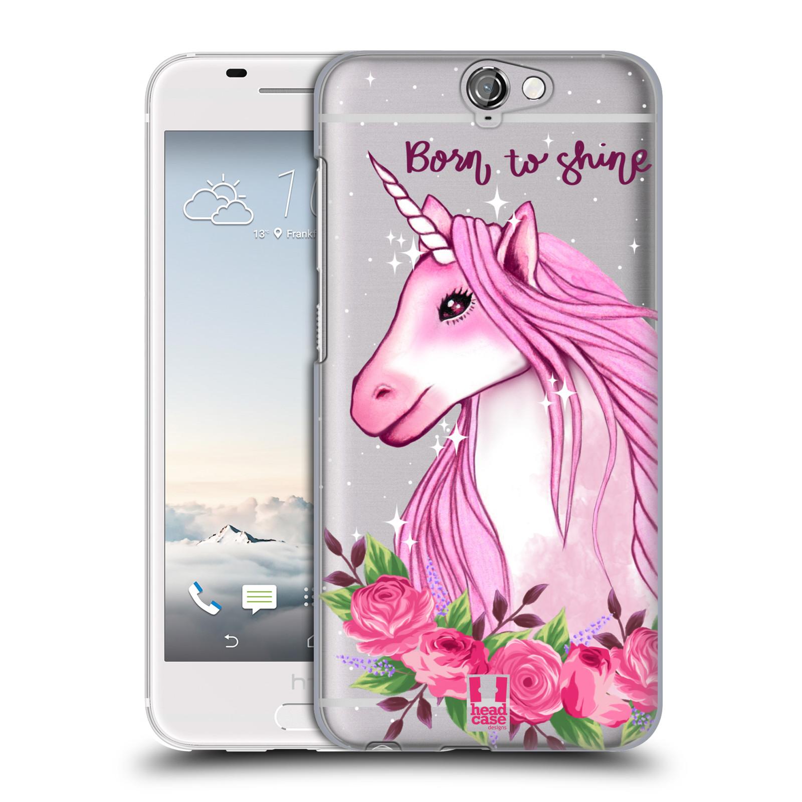 Plastové pouzdro na mobil HTC One A9 - Head Case - Jednorožec - Born to shine