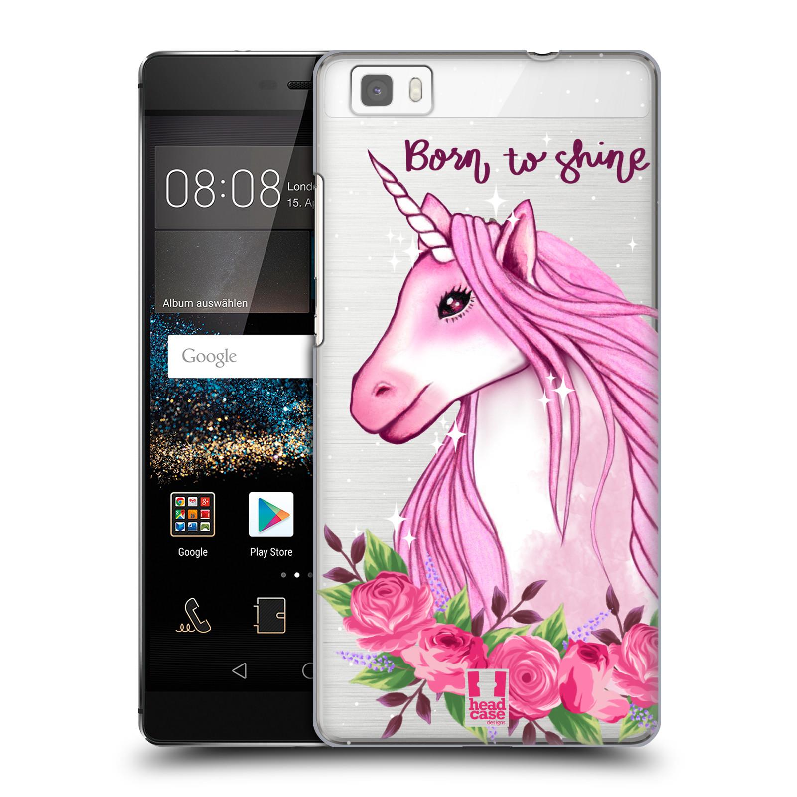 Plastové pouzdro na mobil Huawei P8 Lite - Head Case - Jednorožec - Born to shine