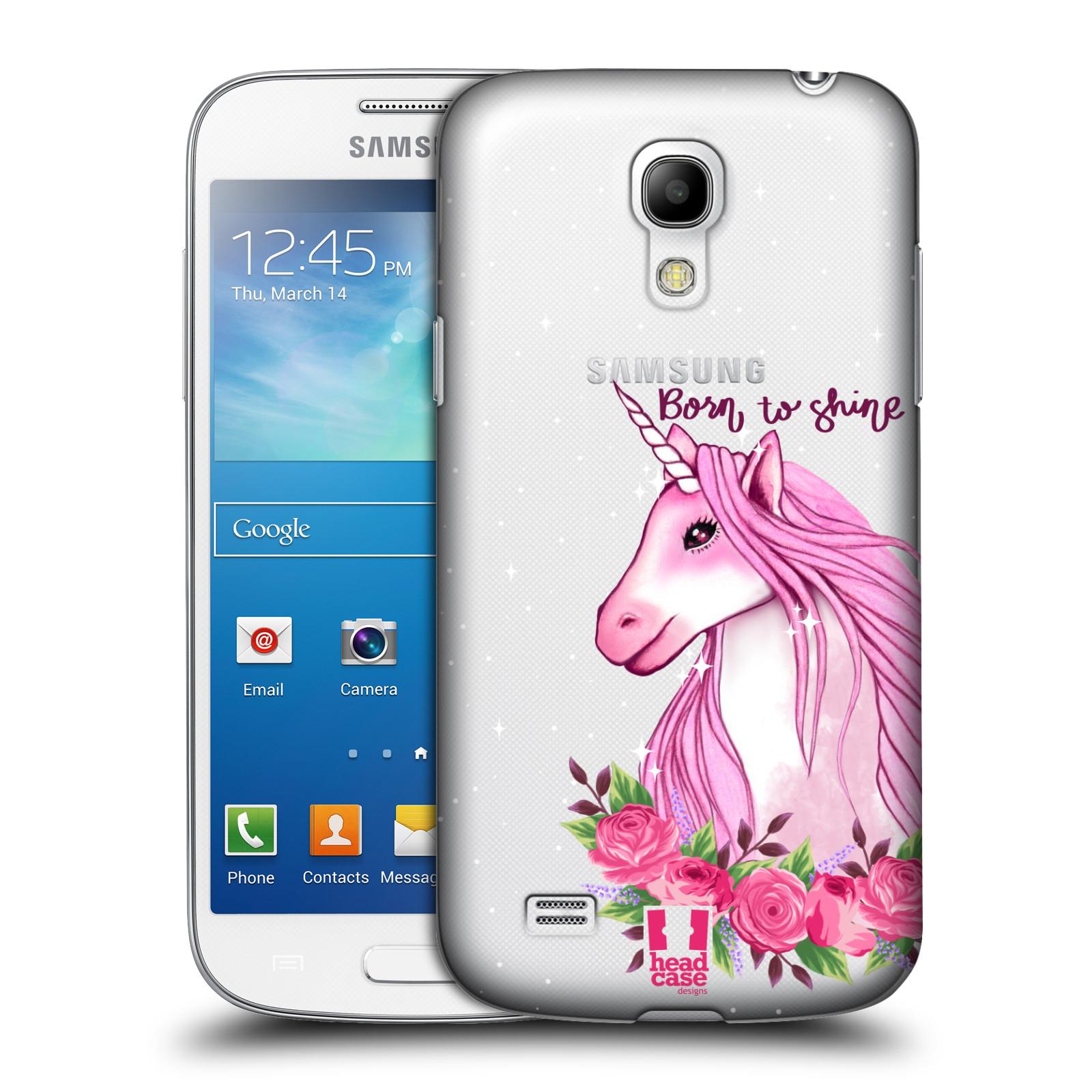 Plastové pouzdro na mobil Samsung Galaxy S4 Mini - Head Case - Jednorožec - Born to shine