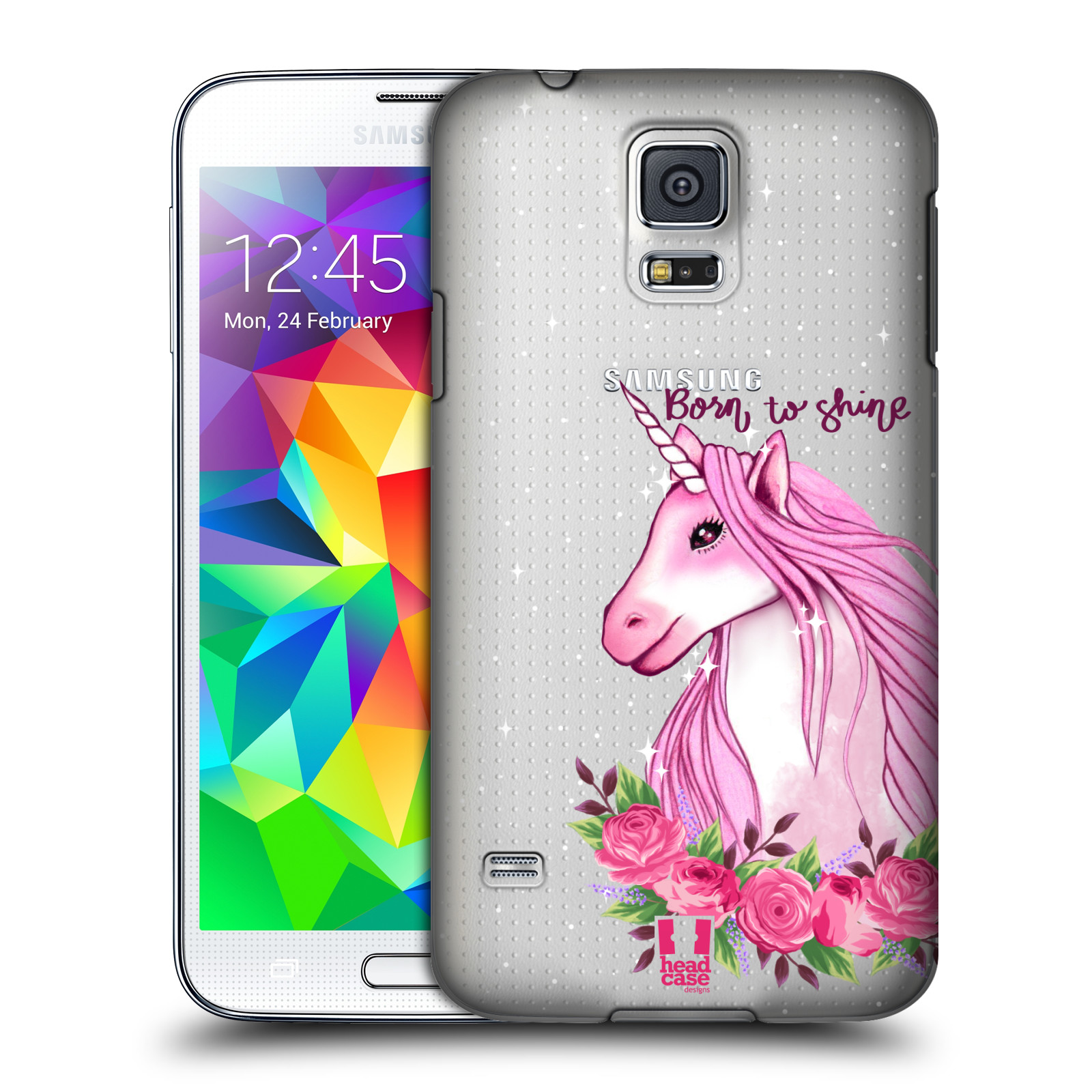 Plastové pouzdro na mobil Samsung Galaxy S5 - Head Case - Jednorožec - Born to shine