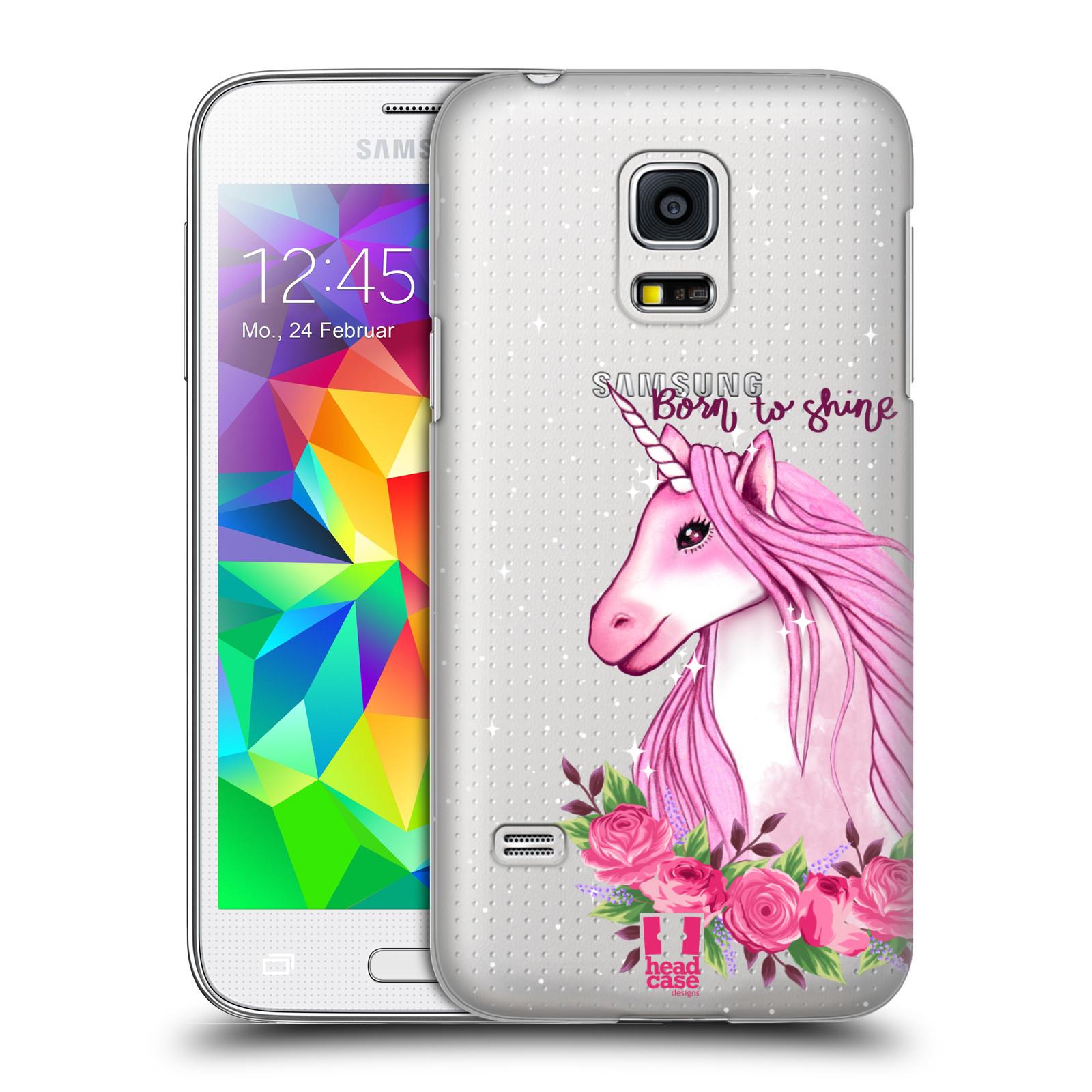 Plastové pouzdro na mobil Samsung Galaxy S5 Mini - Head Case - Jednorožec - Born to shine