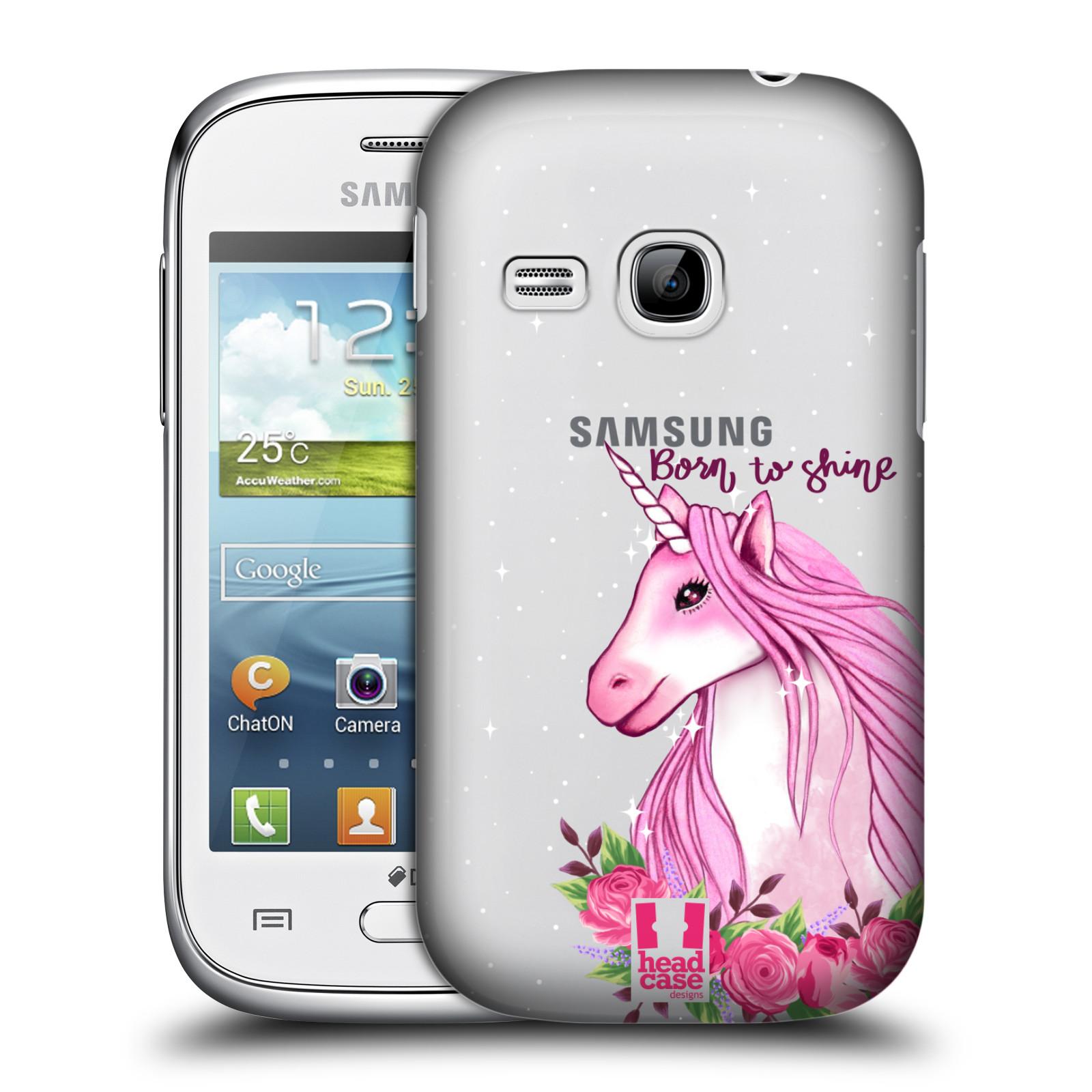 Plastové pouzdro na mobil Samsung Galaxy Young - Head Case - Jednorožec - Born to shine
