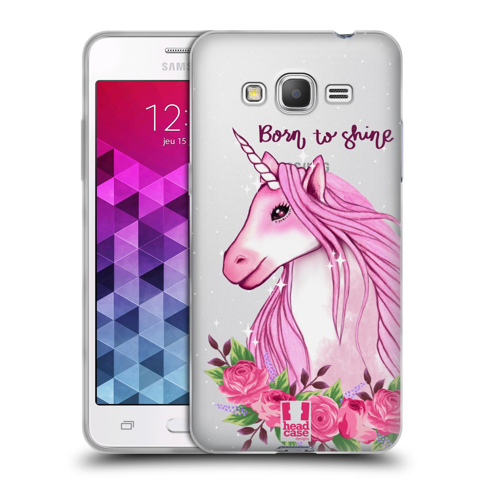 Silikonové pouzdro na mobil Samsung Galaxy Grand Prime VE - Head Case - Jednorožec - Born to shine