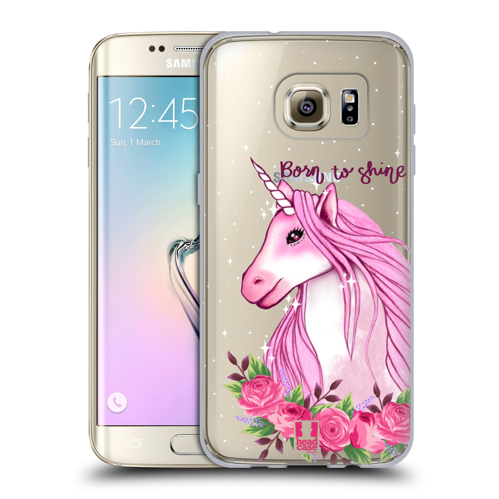Silikonové pouzdro na mobil Samsung Galaxy S7 Edge - Head Case - Jednorožec - Born to shine
