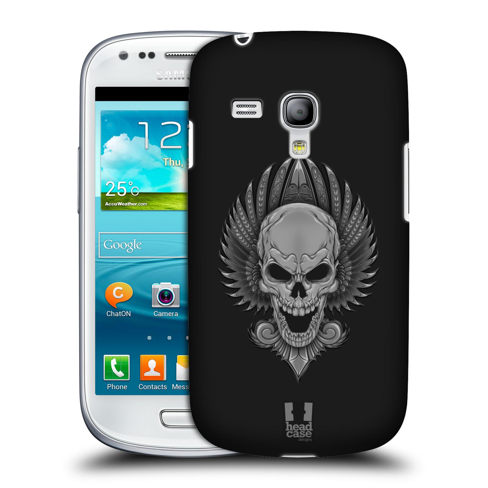 Silikonové pouzdro na mobil Samsung Galaxy S III Mini VE - Head Case - Krutá lebka (Plastový kryt či obal na mobilní telefon s krutým motivem pro Samsung Galaxy S3 Mini VE GT-i8200)