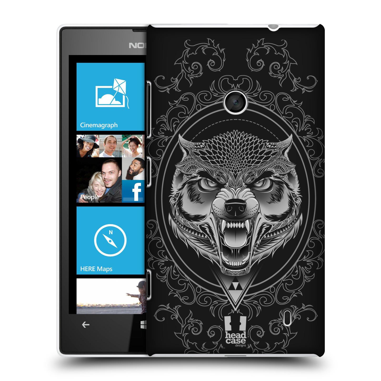 Plastové pouzdro na mobil Nokia Lumia 520 - Head Case - Krutý vlk
