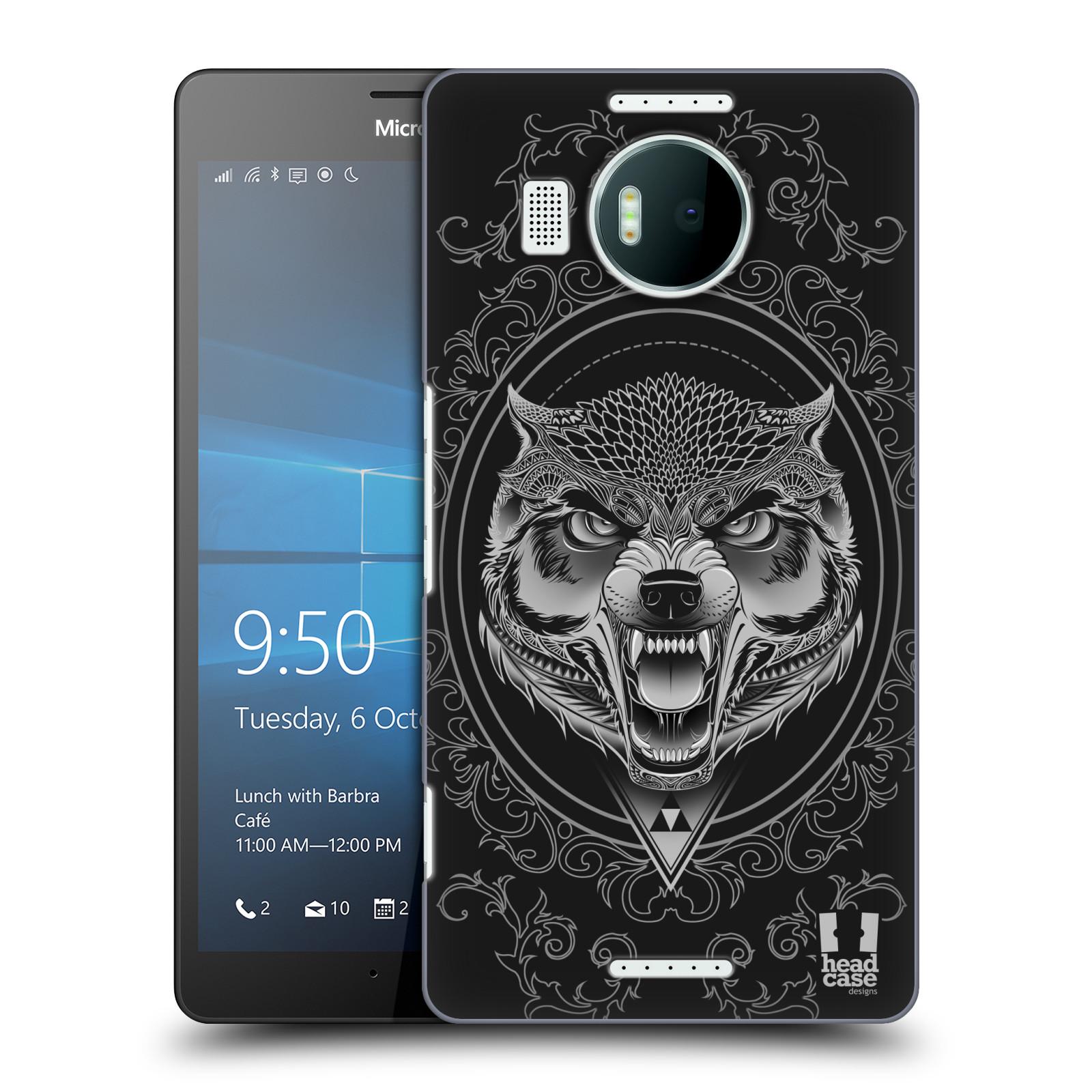 Plastové pouzdro na mobil Microsoft Lumia 950 XL - Head Case - Krutý vlk