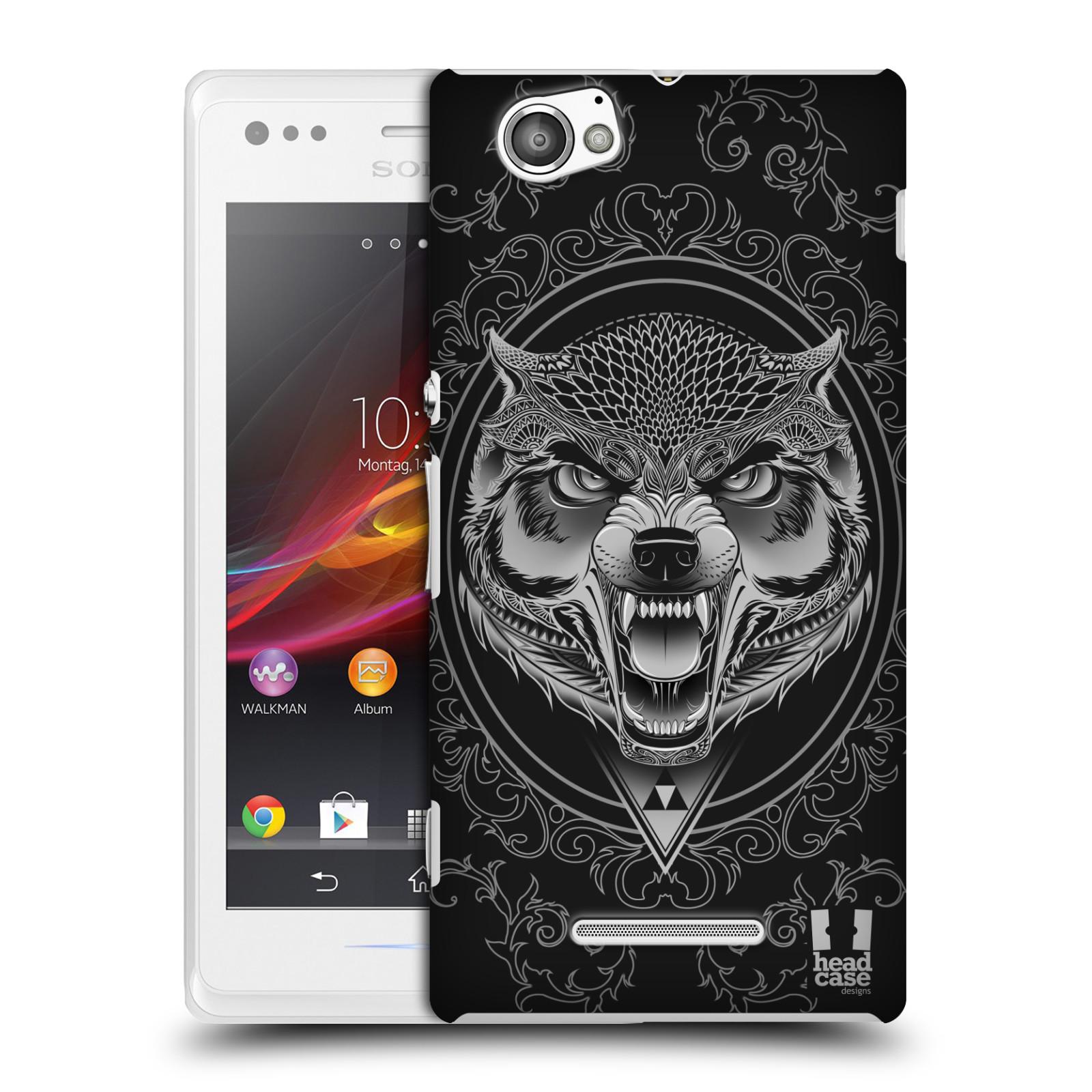 Plastové pouzdro na mobil Sony Xperia M C1905 - Head Case - Krutý vlk