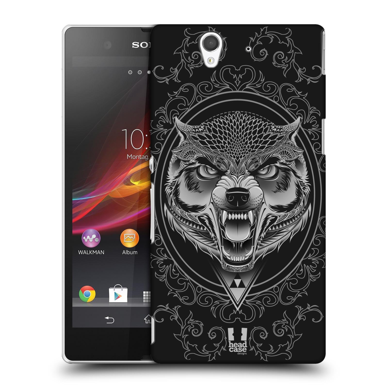 Plastové pouzdro na mobil Sony Xperia Z C6603 - Head Case - Krutý vlk