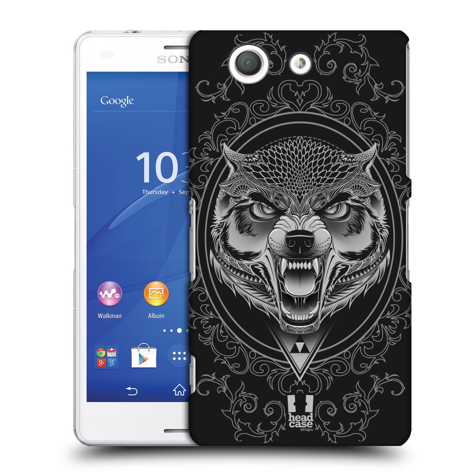 Plastové pouzdro na mobil Sony Xperia Z3 Compact D5803 - Head Case - Krutý vlk