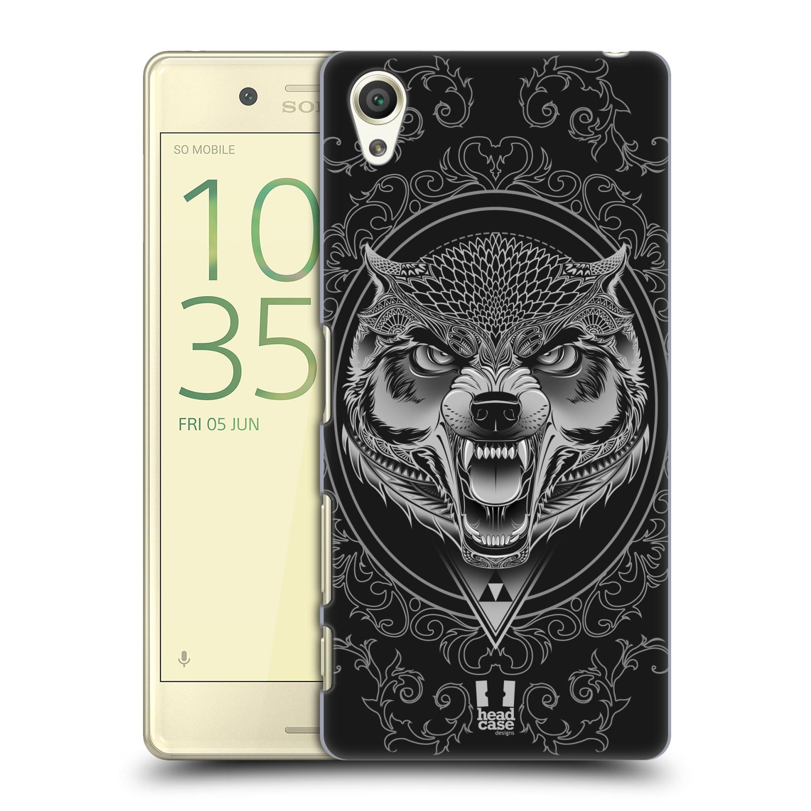 Plastové pouzdro na mobil Sony Xperia X - Head Case - Krutý vlk