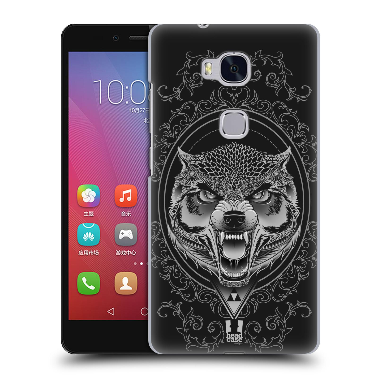 Plastové pouzdro na mobil Honor 5X - Head Case - Krutý vlk