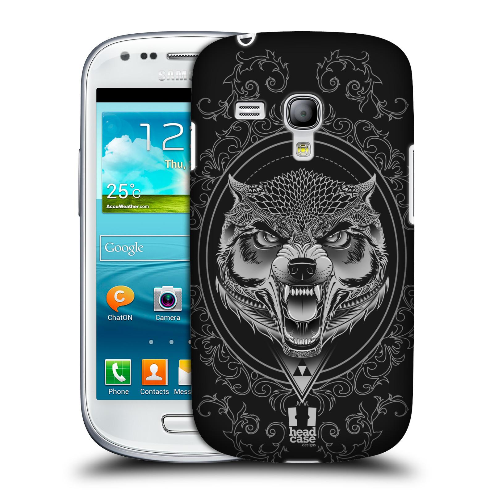 Silikonové pouzdro na mobil Samsung Galaxy S III Mini VE - Head Case - Krutý vlk (Plastový kryt či obal na mobilní telefon s krutým motivem pro Samsung Galaxy S3 Mini VE GT-i8200)