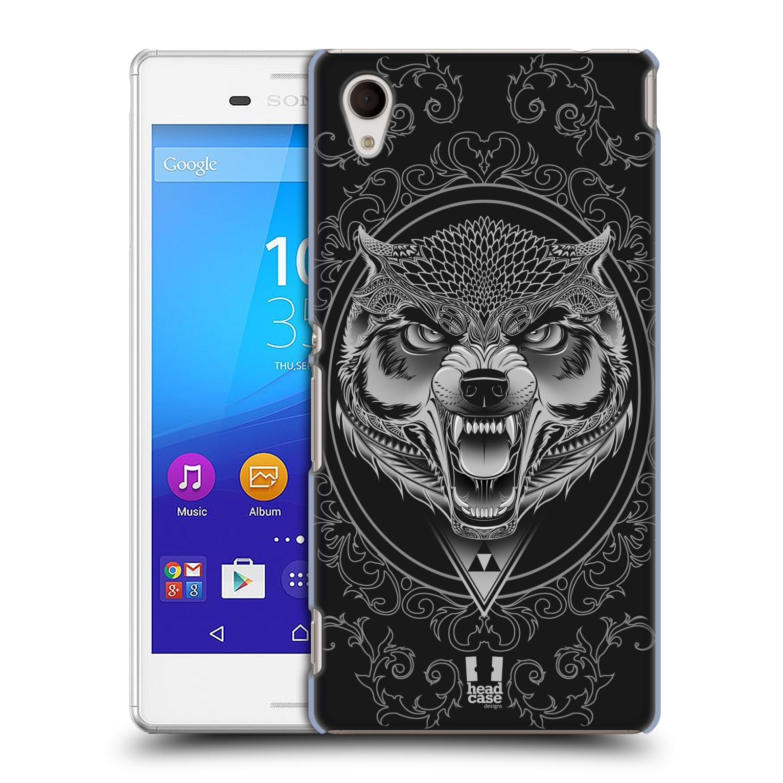 Plastové pouzdro na mobil Sony Xperia M4 Aqua E2303 - Head Case - Krutý vlk