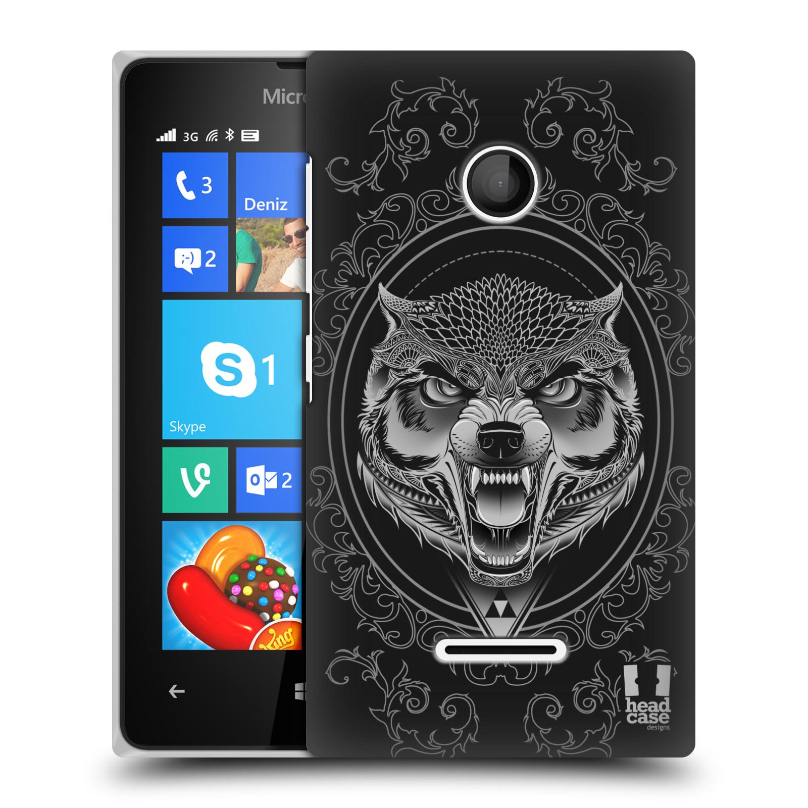 Plastové pouzdro na mobil Microsoft Lumia 435 - Head Case - Krutý vlk