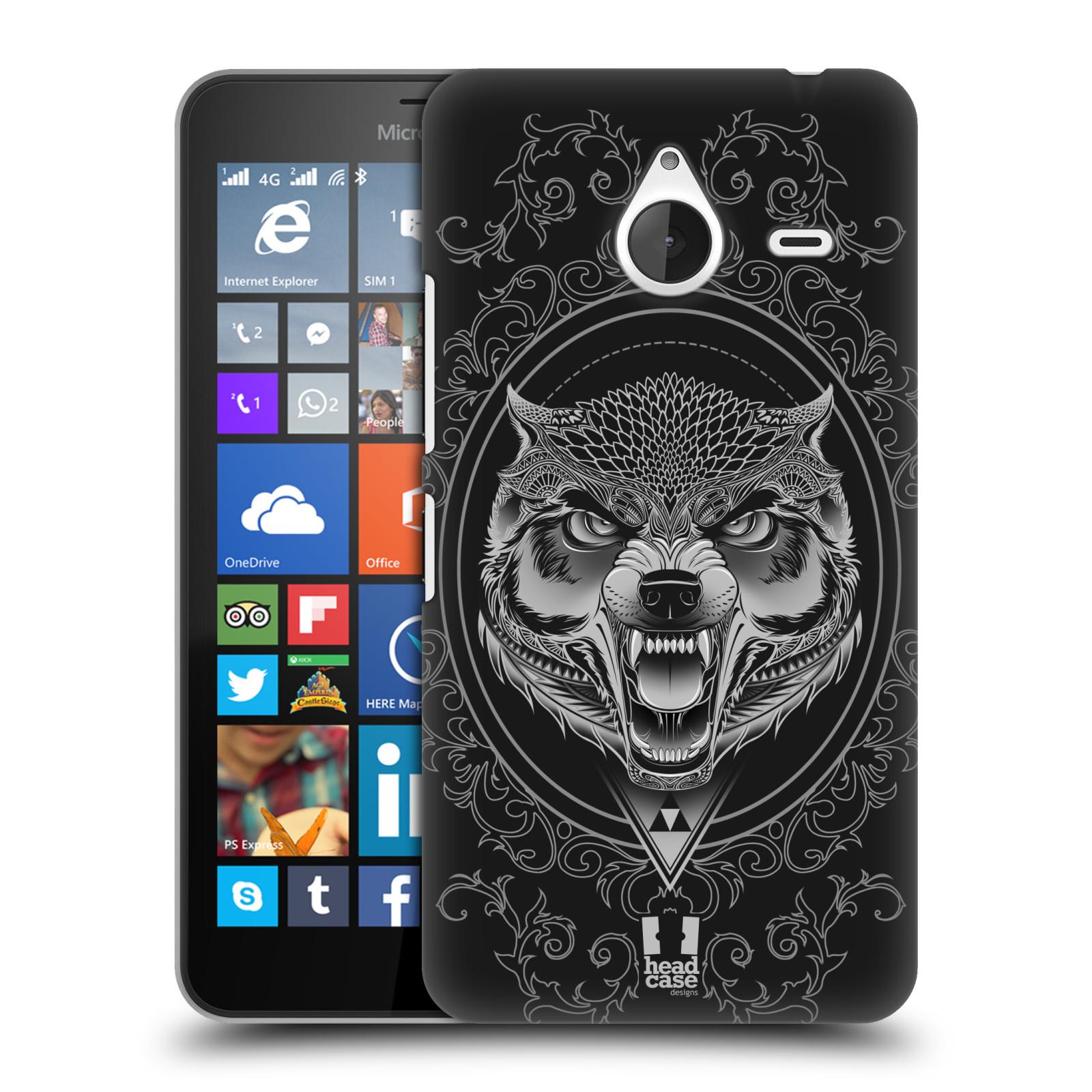Plastové pouzdro na mobil Microsoft Lumia 640 XL - Head Case - Krutý vlk (Plastový kryt či obal na mobilní telefon s krutým motivem pro Microsoft Lumia 640 XL)